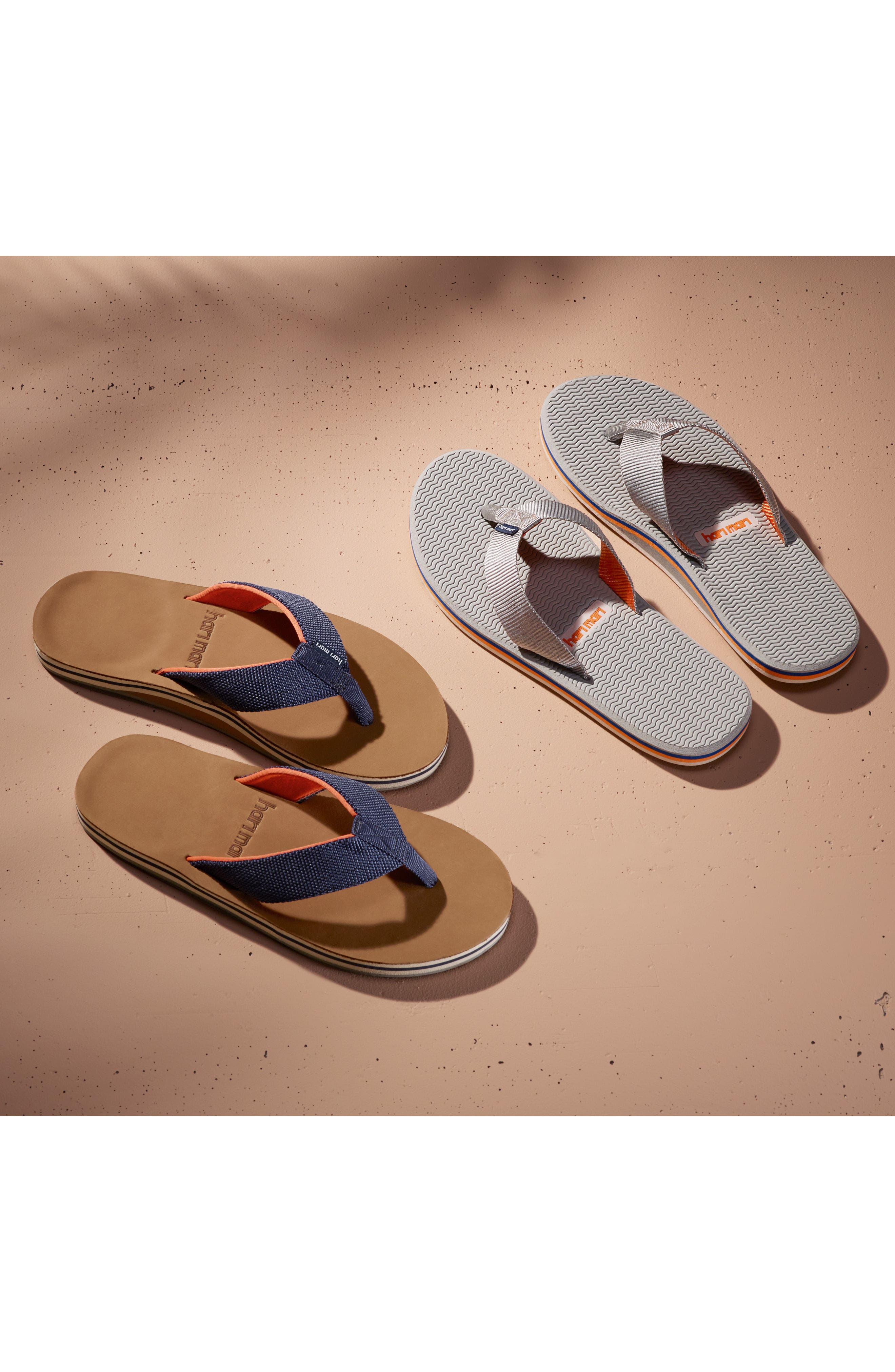 HARI MARI, 'Dunes' Flip Flop, Alternate thumbnail 7, color, BLACK