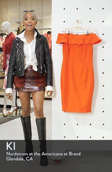 Ruffle Off the Shoulder Dress, sales video thumbnail