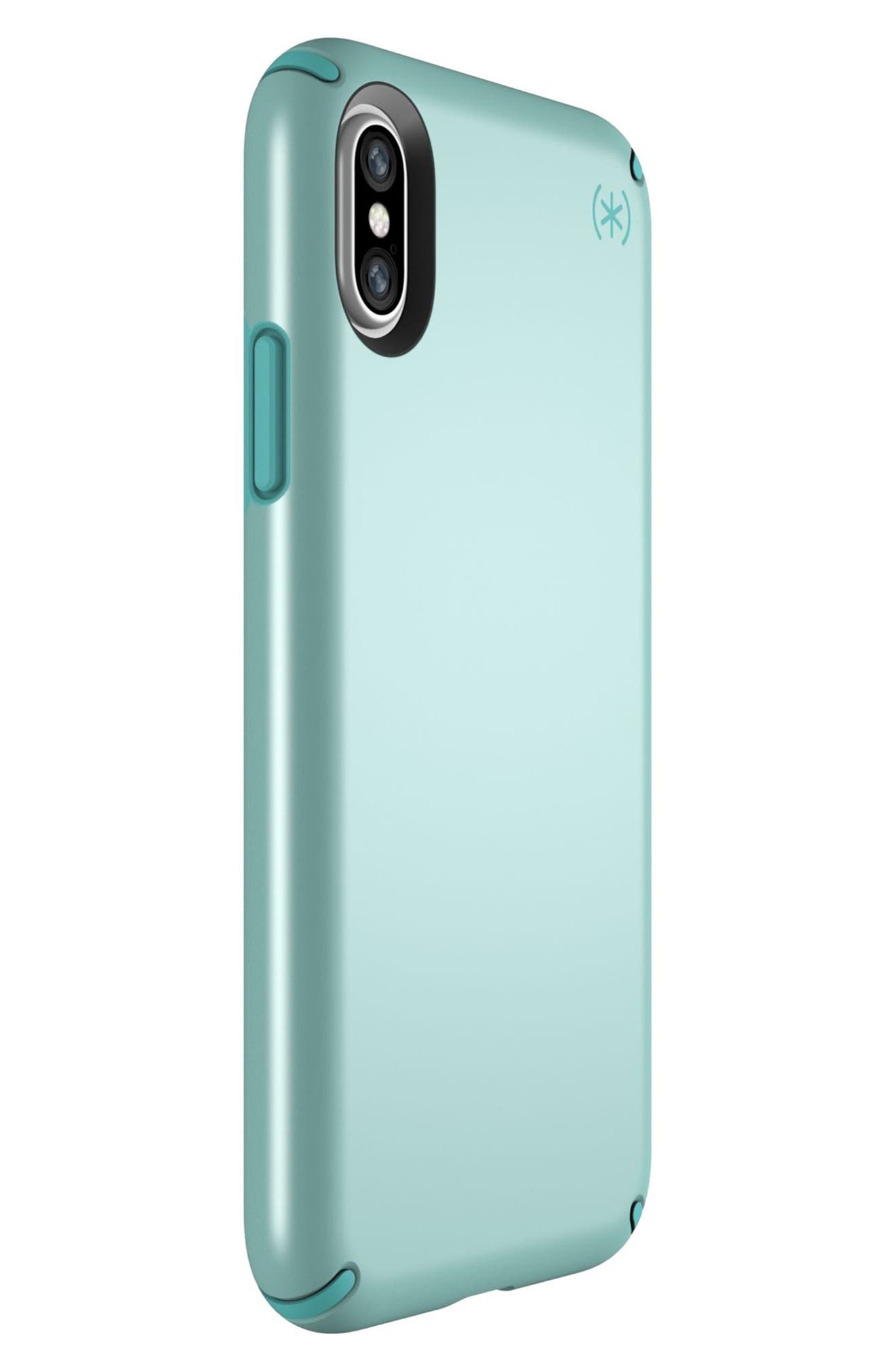 SPECK, iPhone X & Xs Case, Alternate thumbnail 6, color, PEPPERMINT GREEN / TEAL