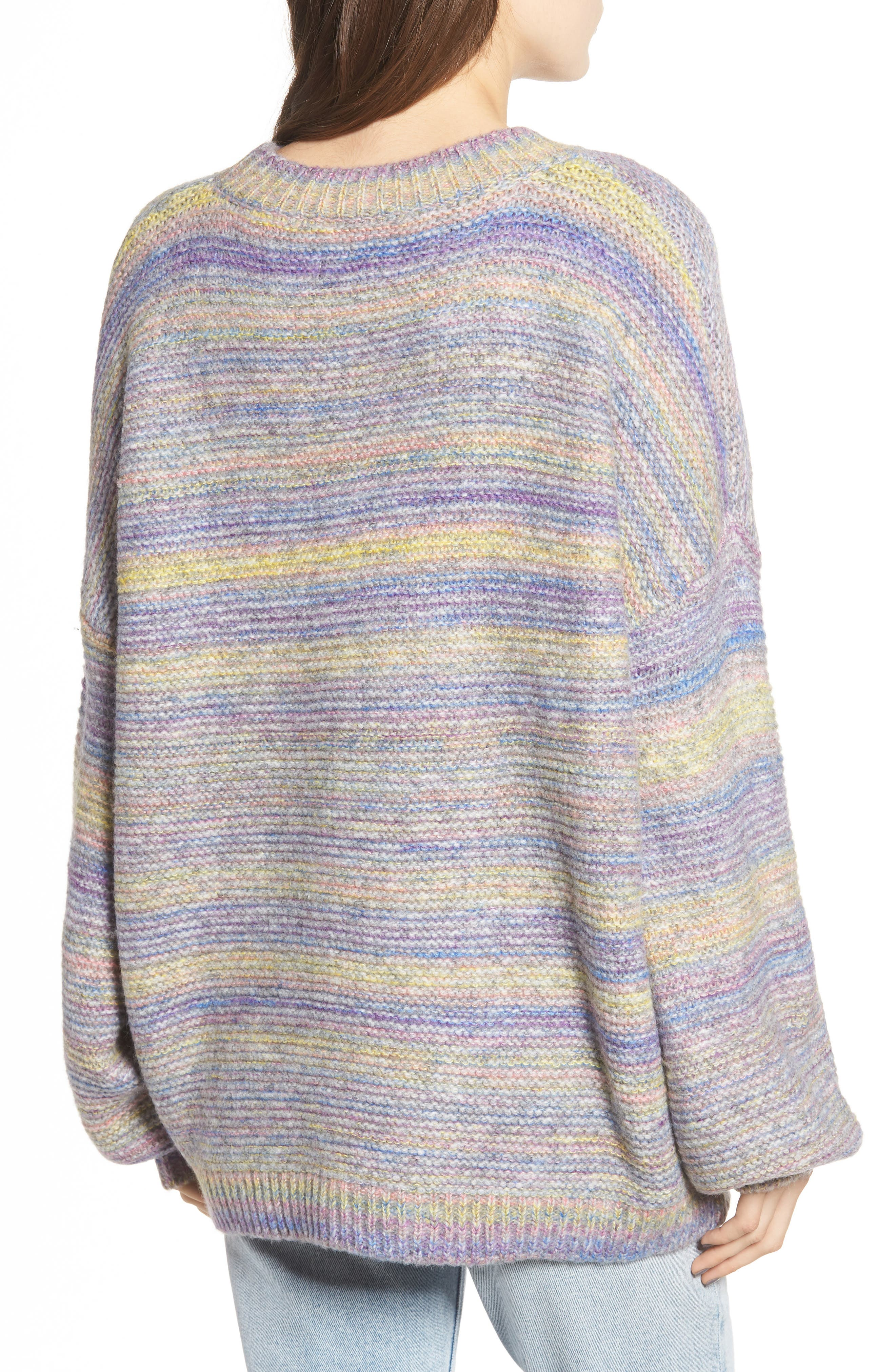 PROSPERITY DENIM, Rainbow Marl Sweater, Alternate thumbnail 2, color, YELLOW
