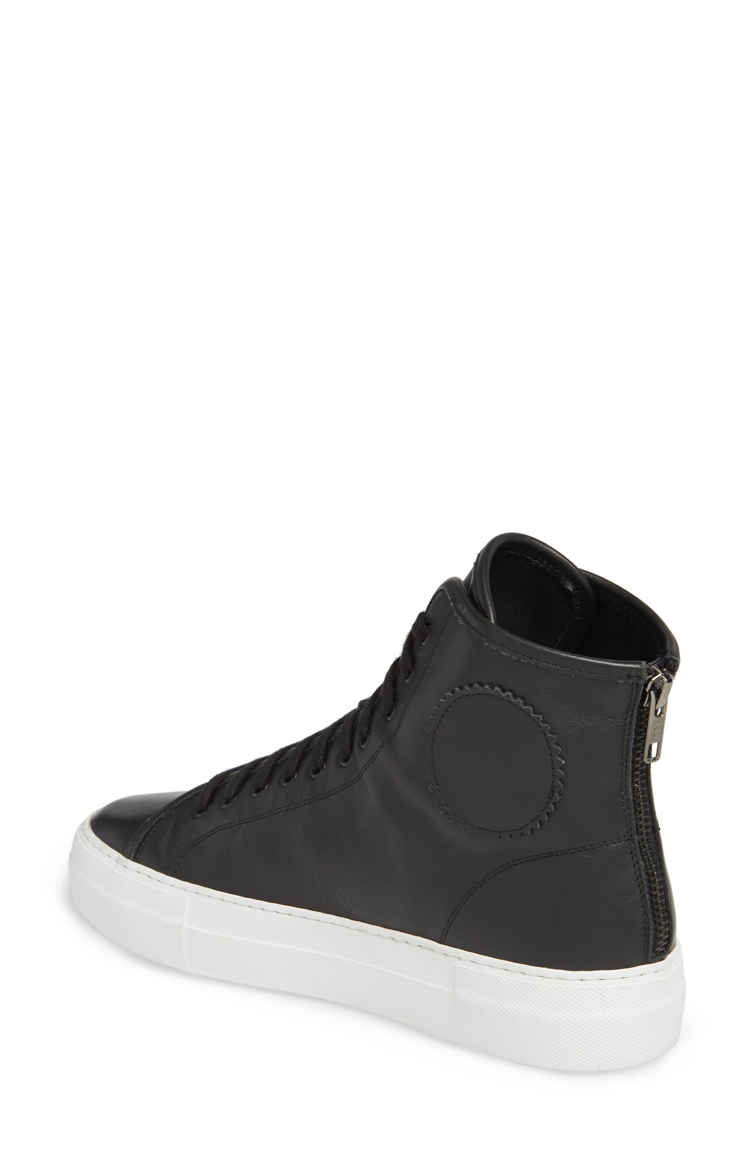 COMMON PROJECTS, Tournament High Super Sneaker, Alternate thumbnail 2, color, BLACK/ WHITE