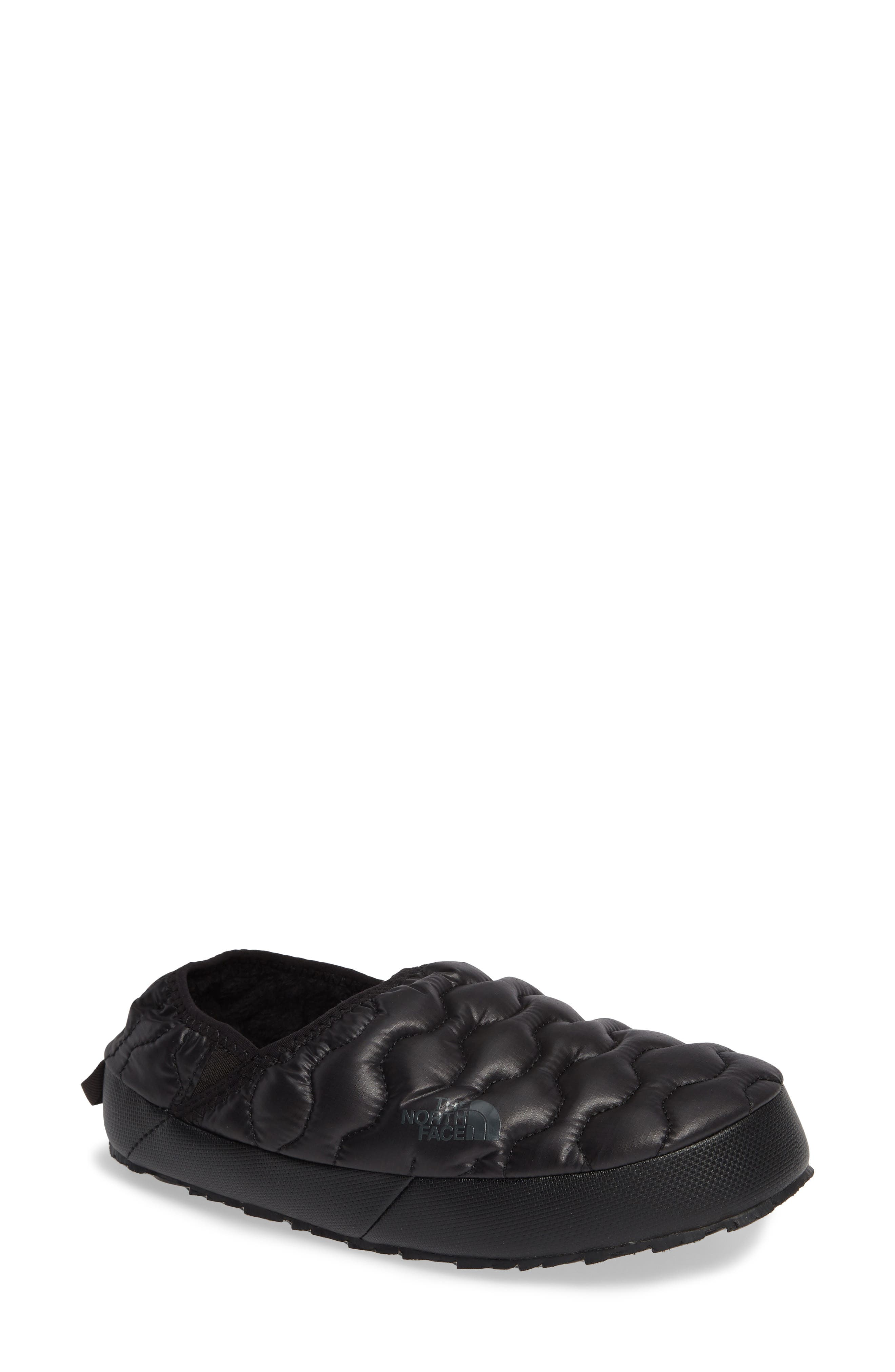 THE NORTH FACE, Thermoball<sup>™</sup> Water Resistant Traction Mule, Main thumbnail 1, color, SHINY BLACK/ BELUGA GREY