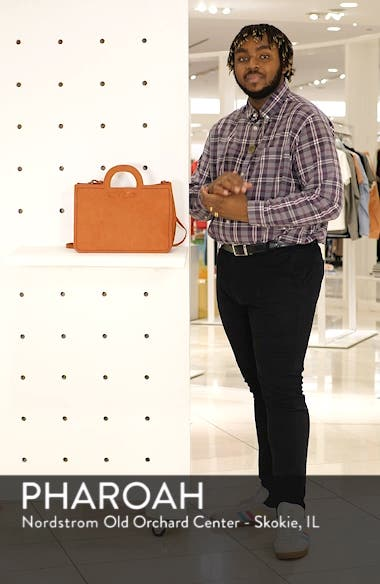 Faux Leather Top Handle Tote Bag, sales video thumbnail