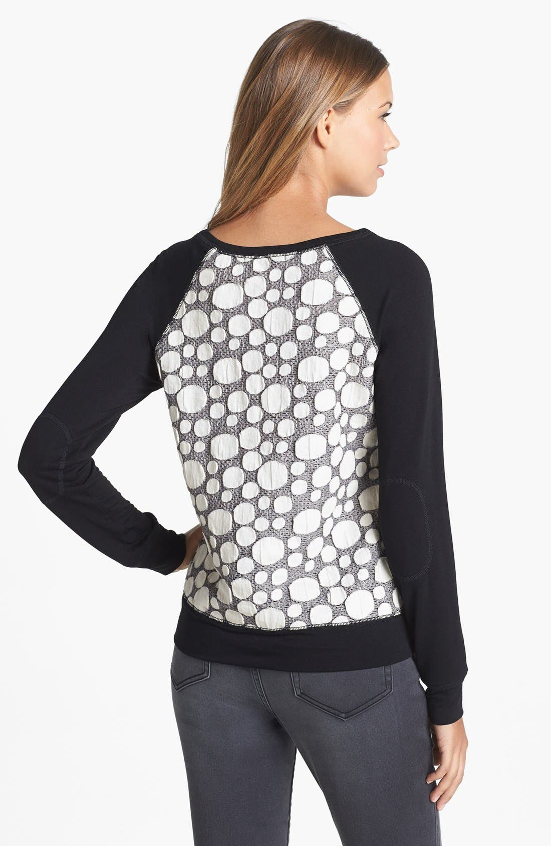 OLIVIA MOON, Textured Sweatshirt, Alternate thumbnail 3, color, 031