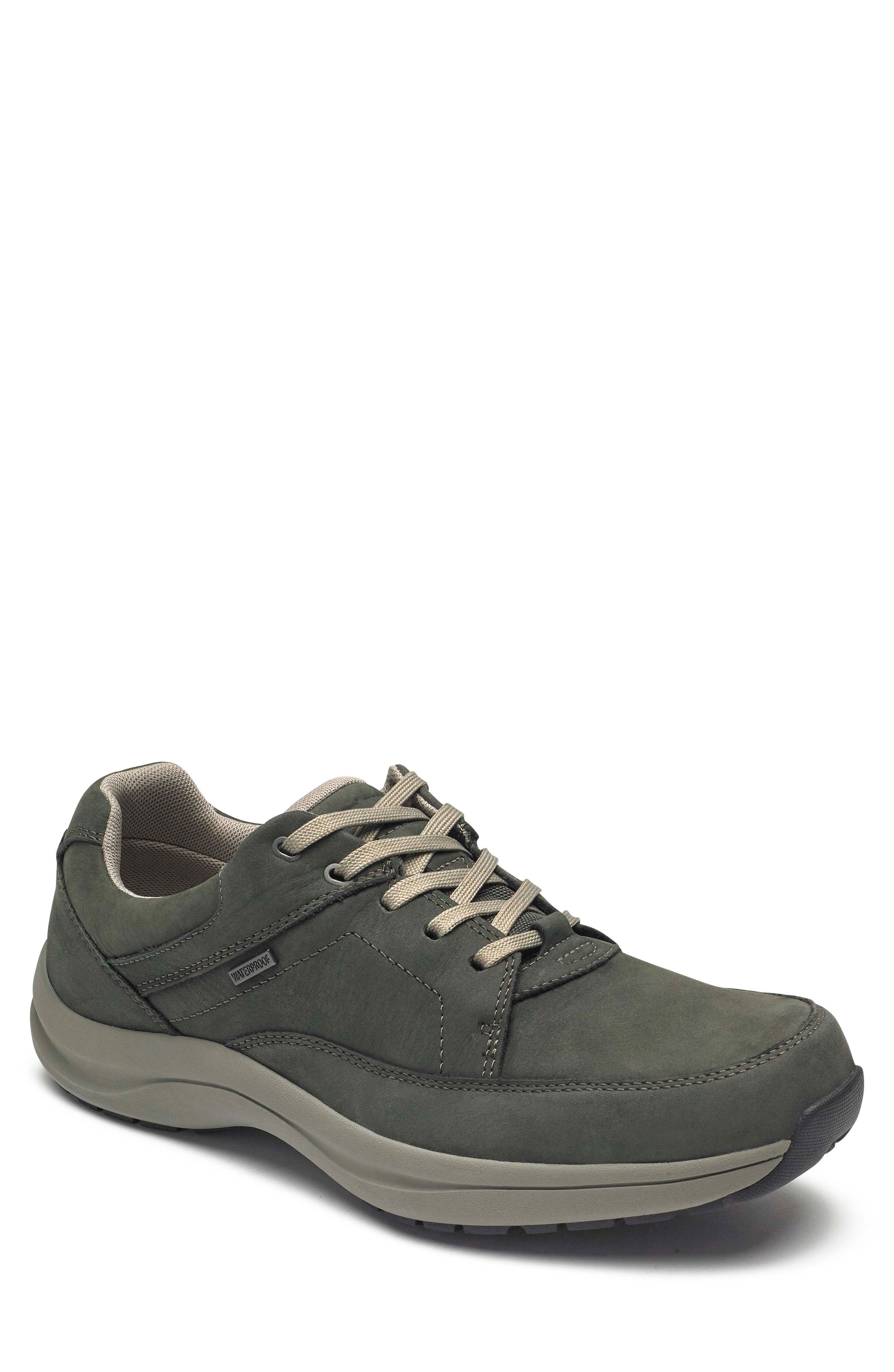 DUNHAM, Stephen-DUN Waterproof Derby, Main thumbnail 1, color, GREEN LEATHER