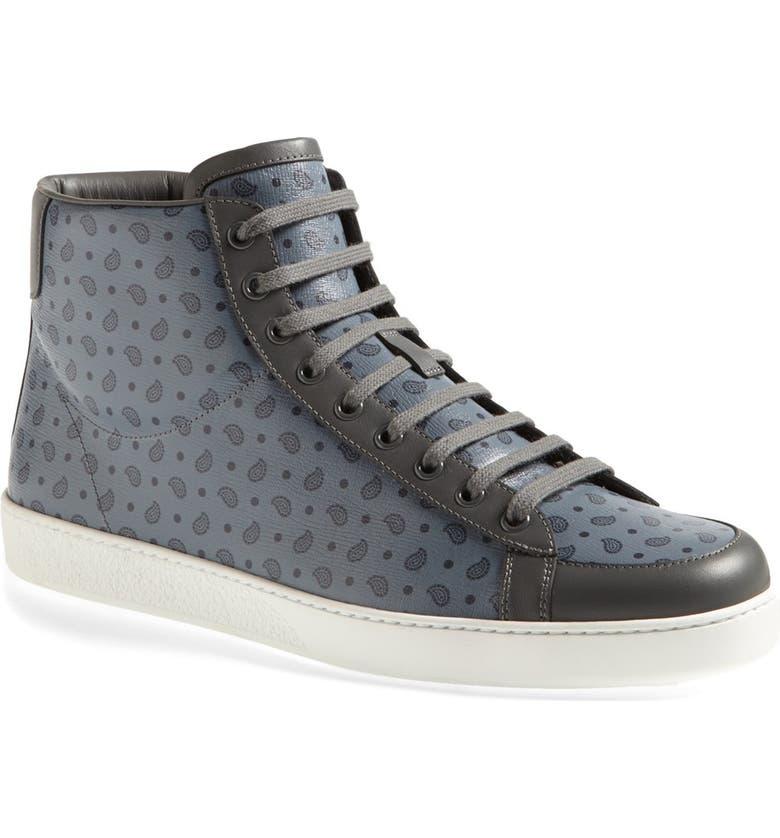 9e55e280499 Gucci  Brooklyn  Paisley High Top Sneaker