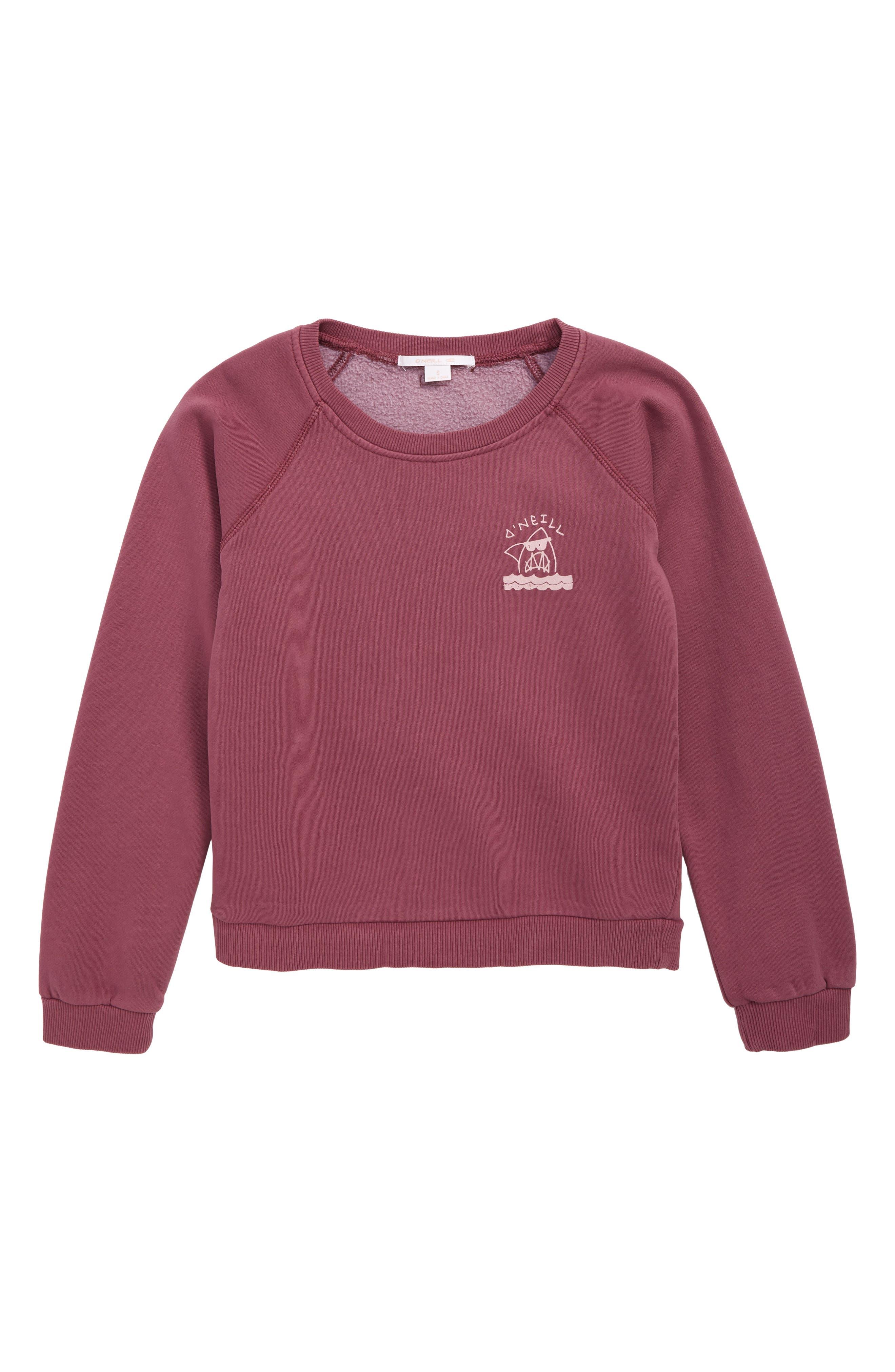 Girls ONeill Logo Graphic Sweatshirt Size L (1214)  Purple