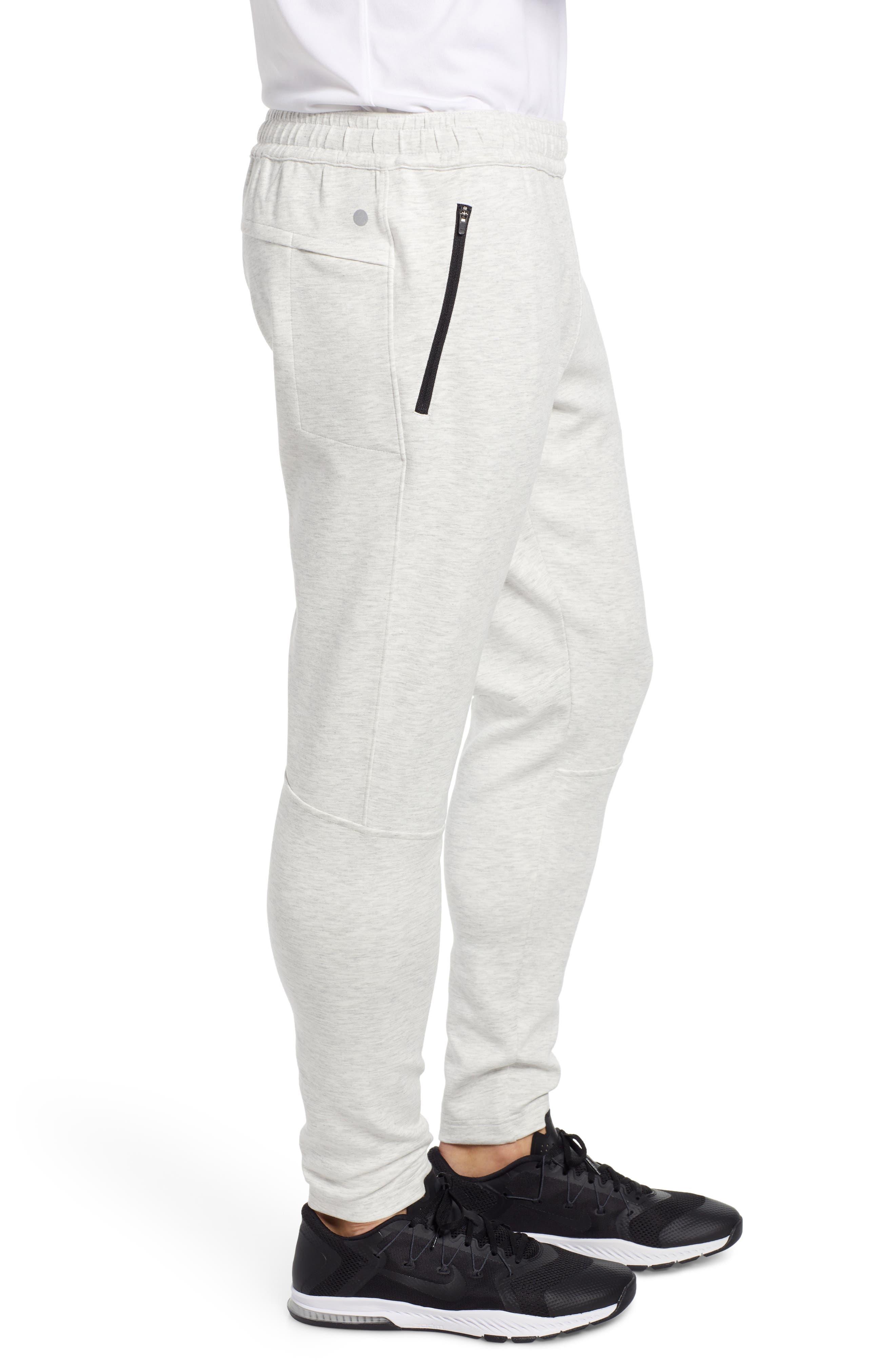 ZELLA, Zip Pocket Tech Jogger Pants, Alternate thumbnail 4, color, WHITE OXIDE MELANGE