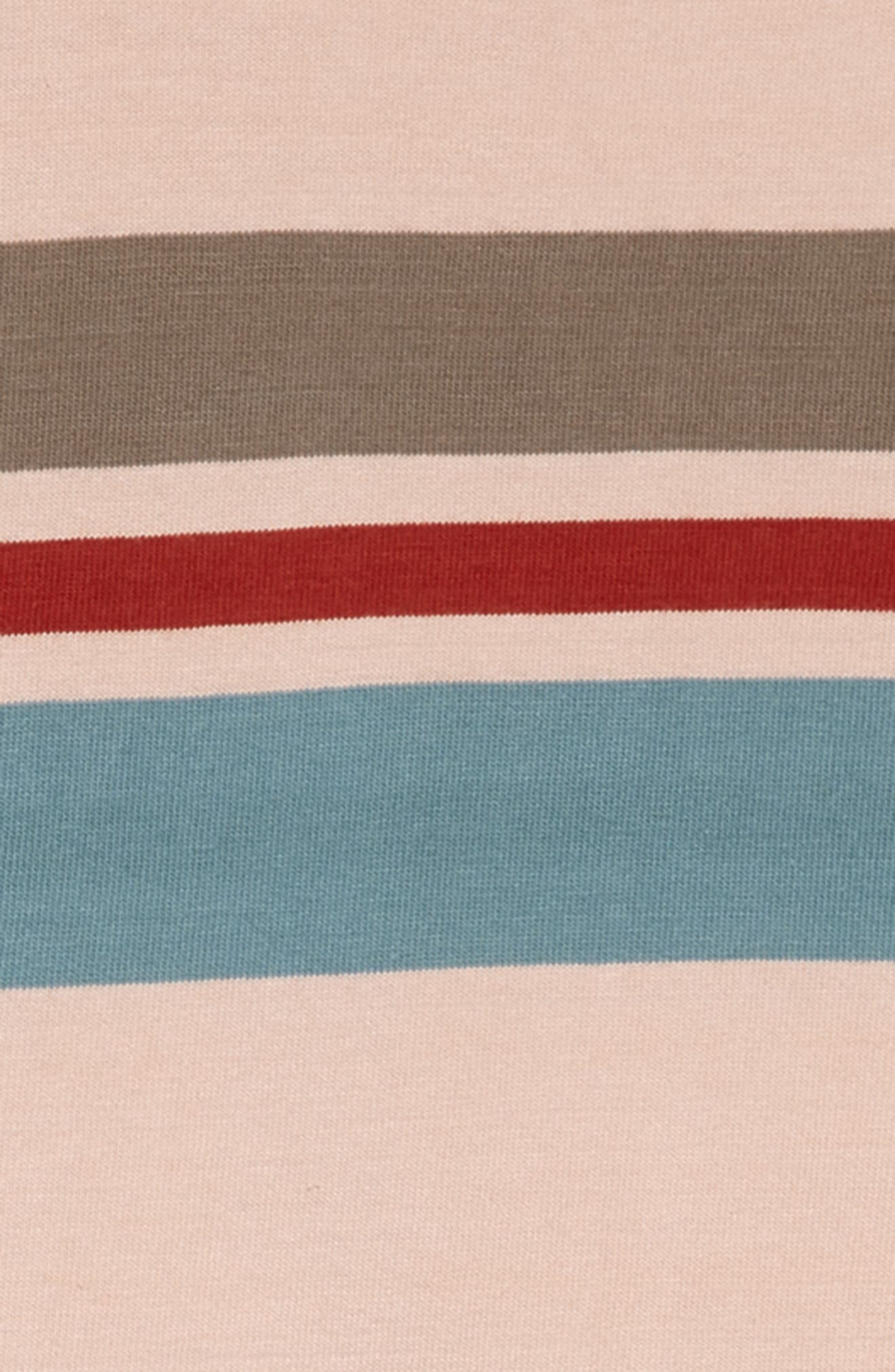 TREASURE & BOND, Rugby Stripe Shirtdress, Alternate thumbnail 3, color, PINK PEACH RUGBY STRIPE