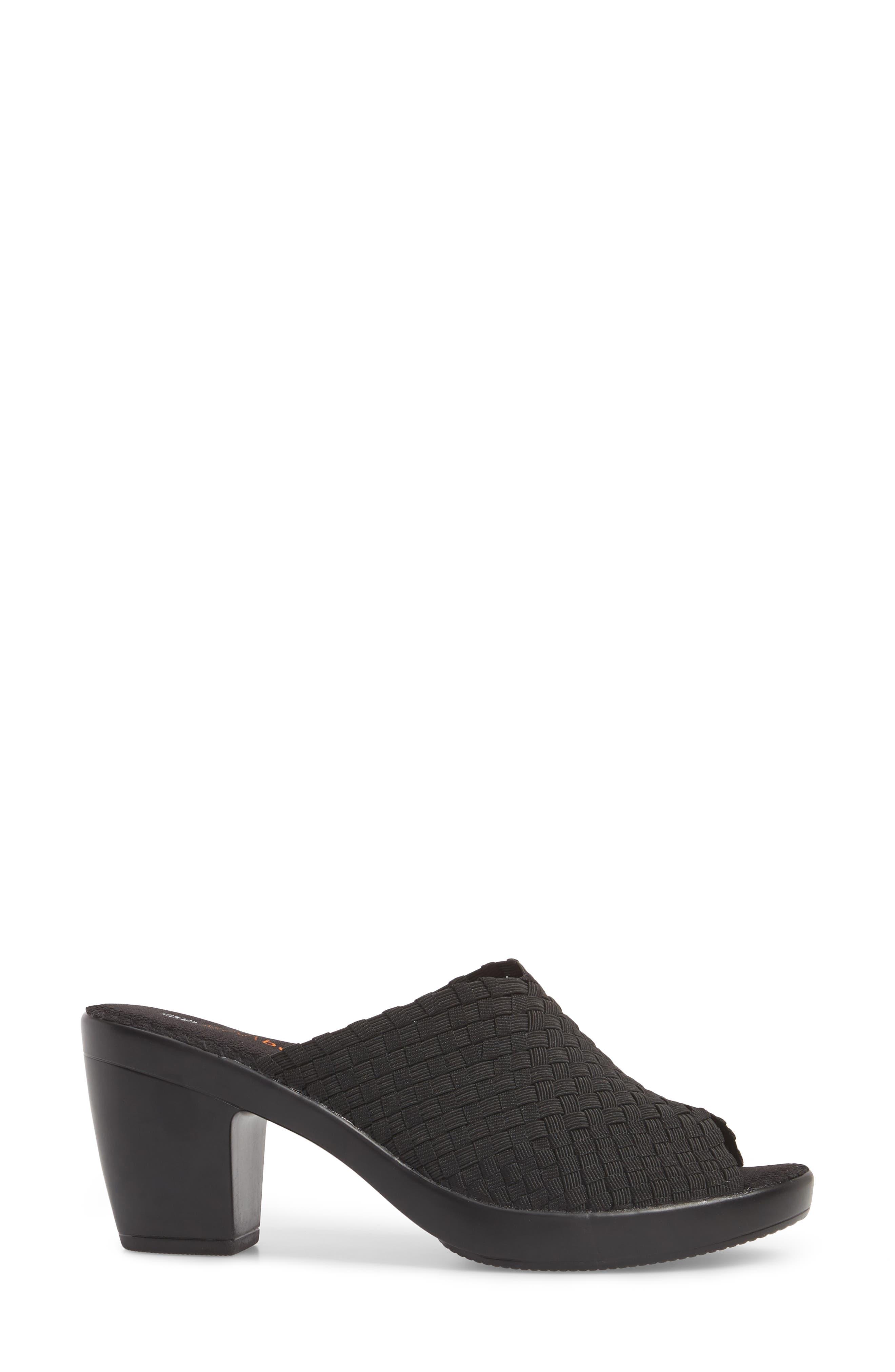 BERNIE MEV., Sun Texas Sandal, Alternate thumbnail 3, color, BLACK FABRIC