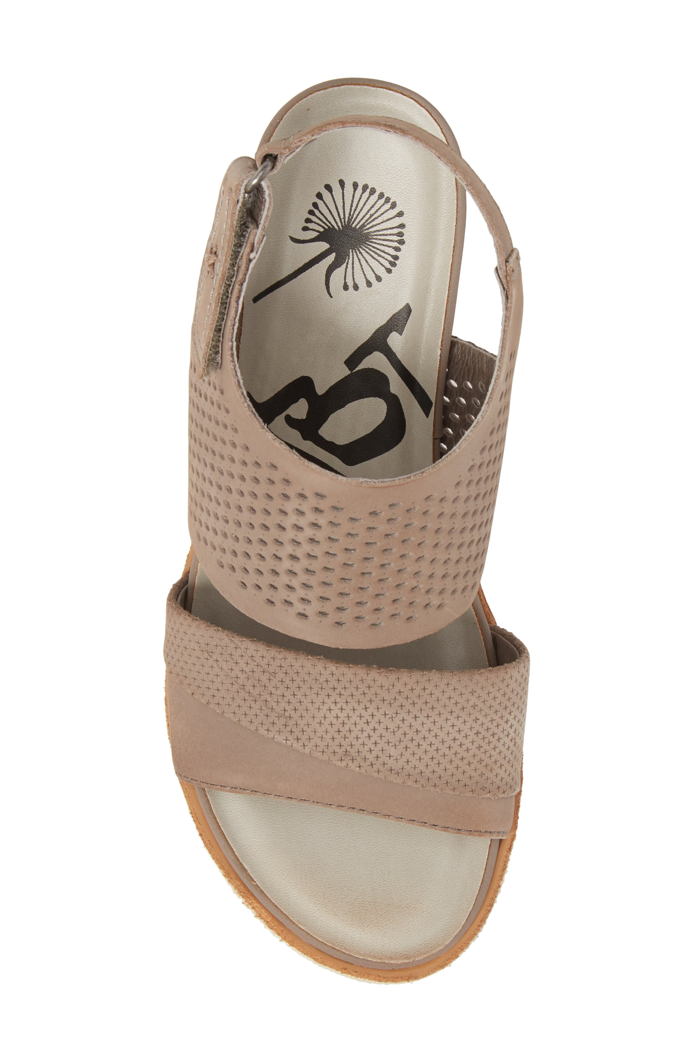 OTBT, Milky Way Wedge Sandal, Alternate thumbnail 5, color, COCOA LEATHER