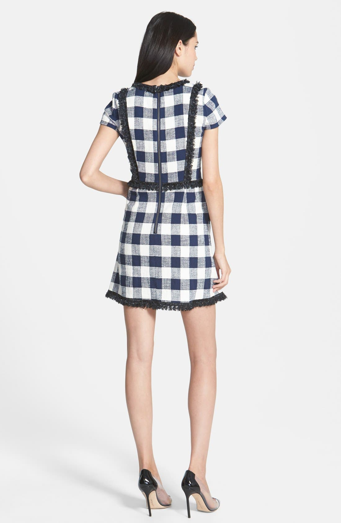 MILLY, Woven A-Line Dress, Alternate thumbnail 2, color, 420