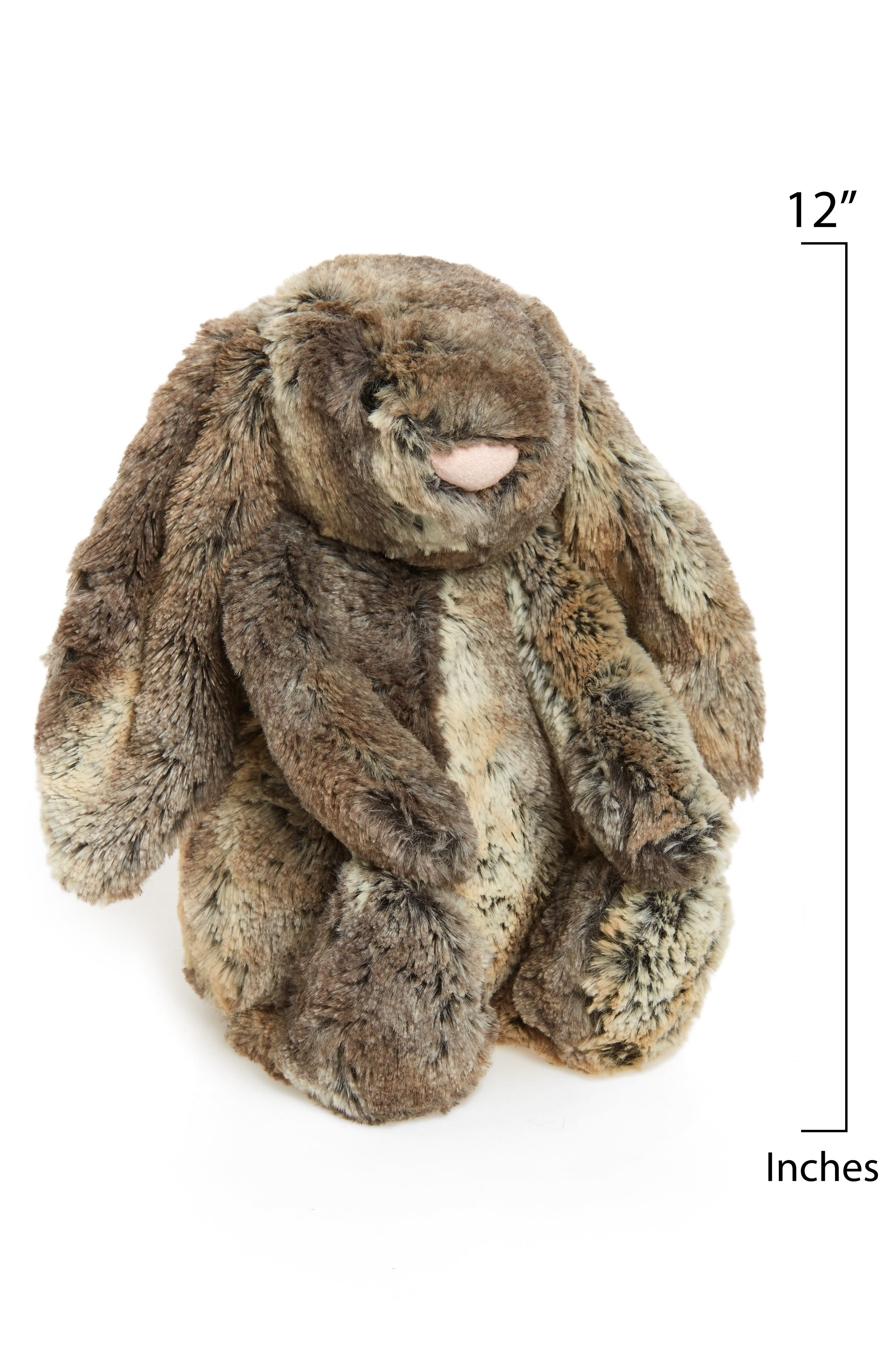 JELLYCAT, Woodland Babe Bunny Stuffed Animal, Main thumbnail 1, color, GREY