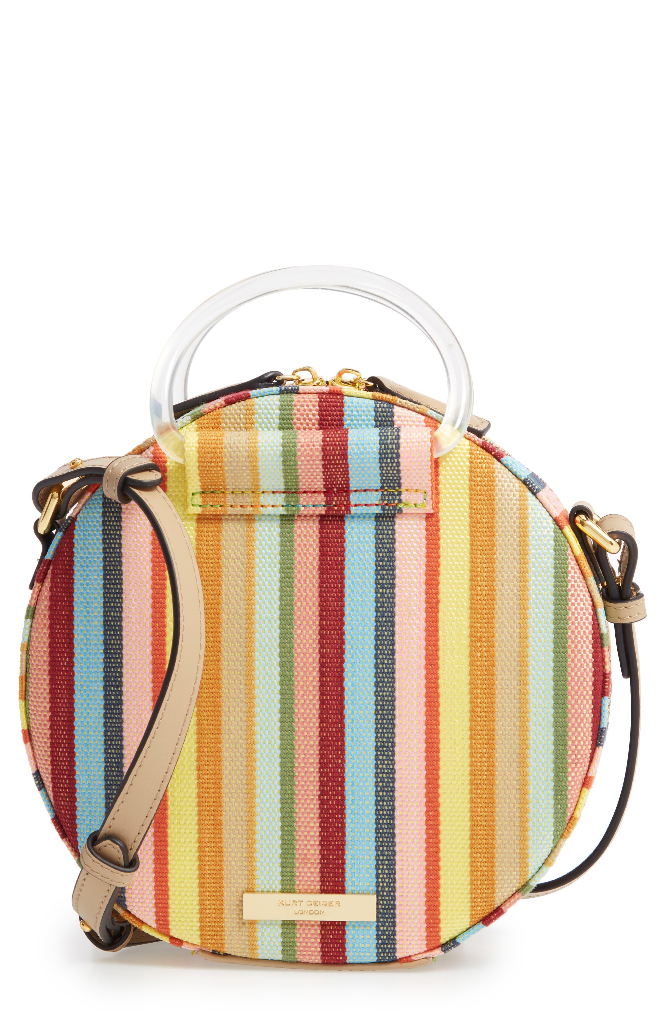KURT GEIGER LONDON Harriet Circle Crossbody Bag, Main, color, GREEN OTH