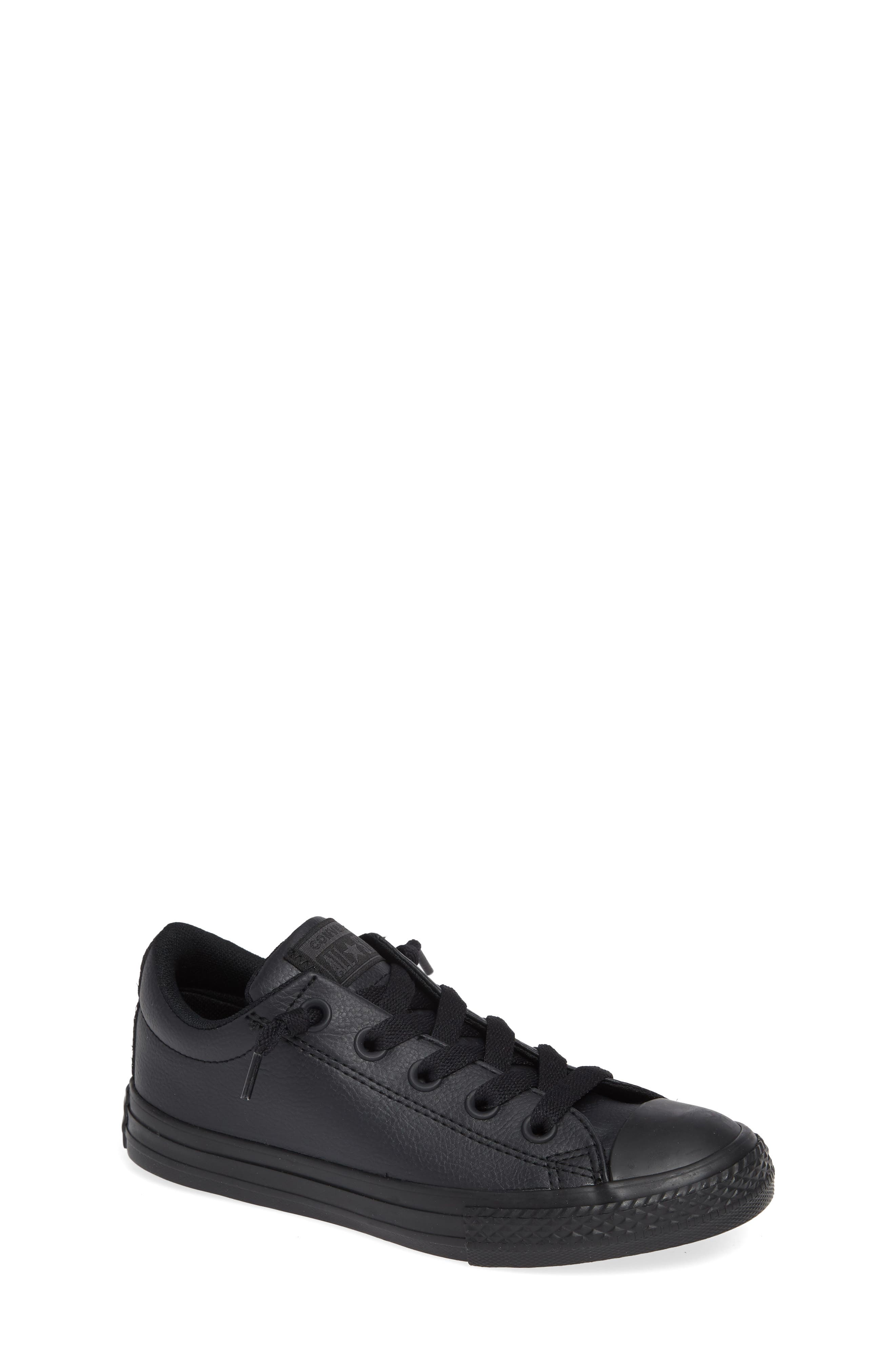 CONVERSE Chuck Taylor<sup>®</sup> All Star<sup>®</sup> 'Street Ox' Sneaker, Main, color, BLACK MONO