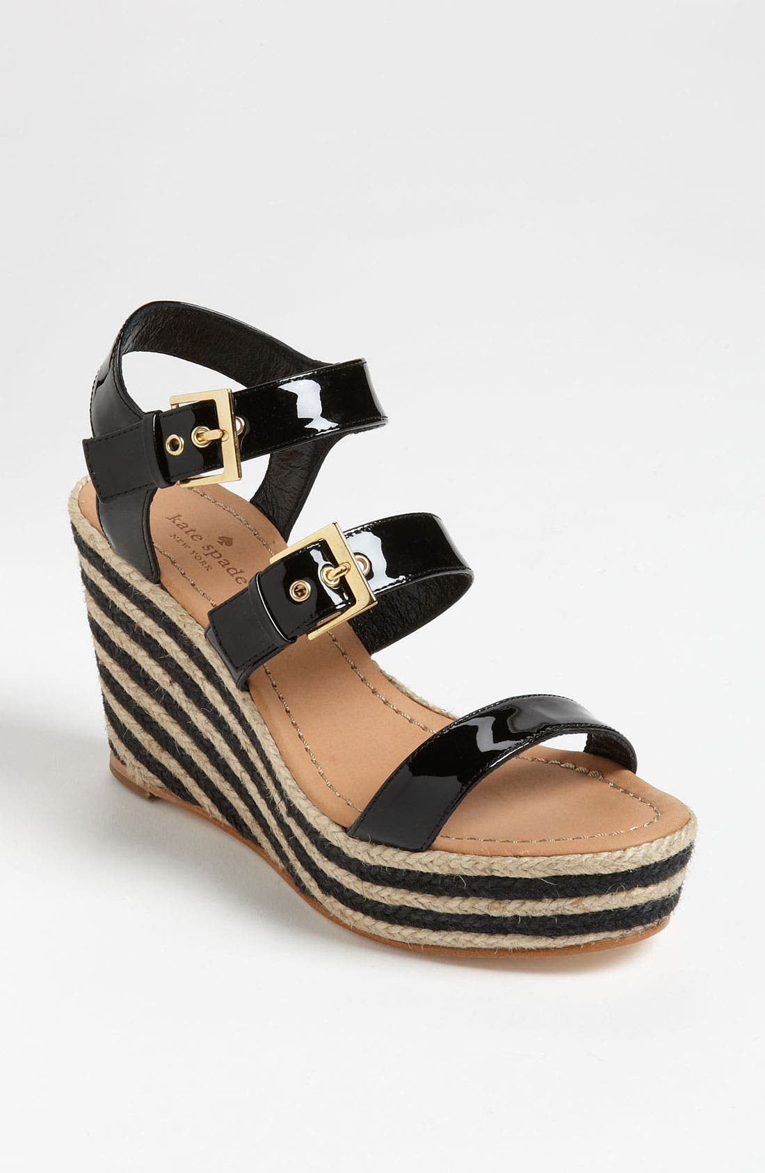 KATE SPADE NEW YORK, 'darla' sandal, Main thumbnail 1, color, 001