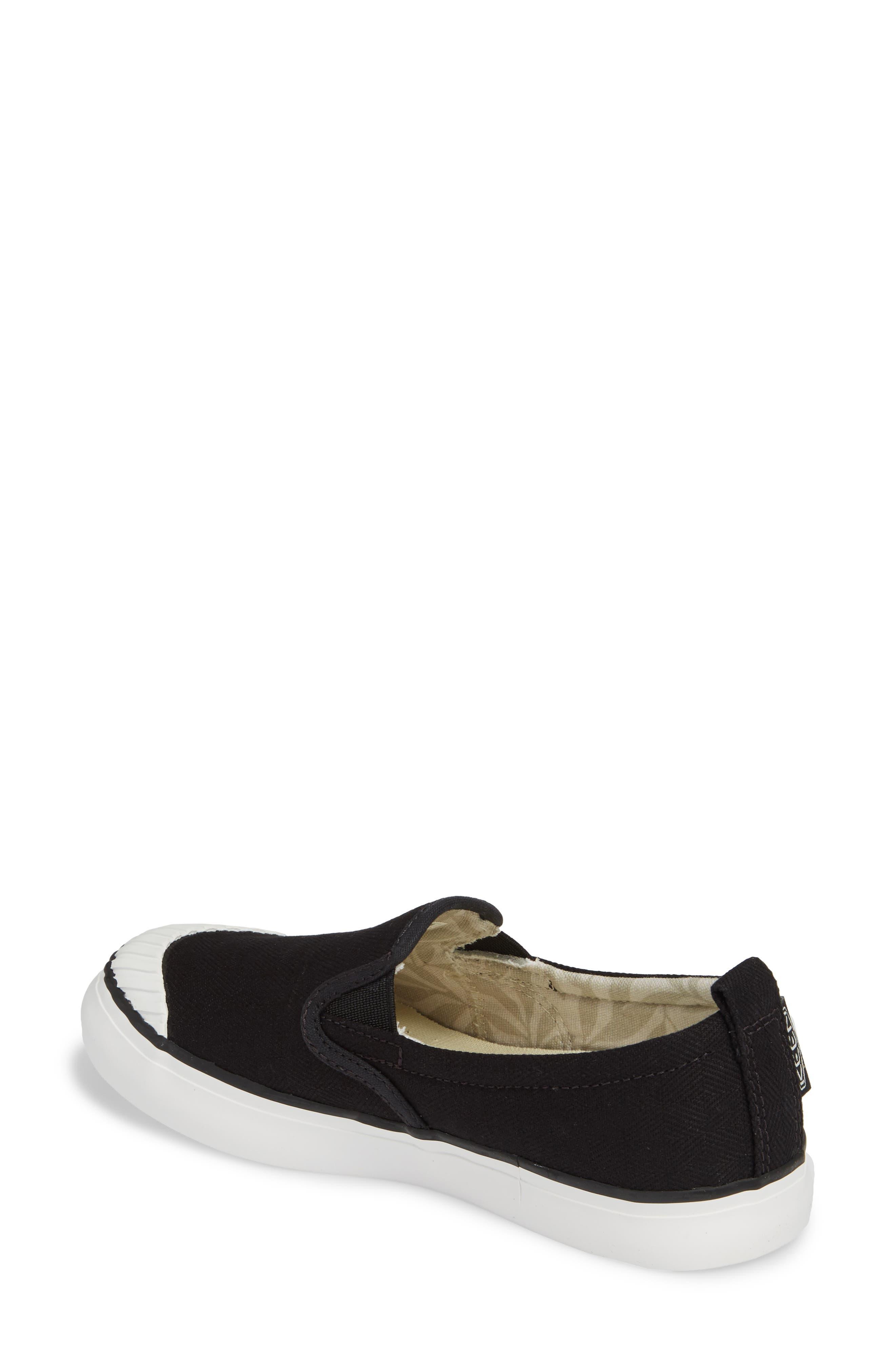 KEEN, Elsa Slip-On Sneaker, Alternate thumbnail 2, color, BLACK/ STAR WHITE