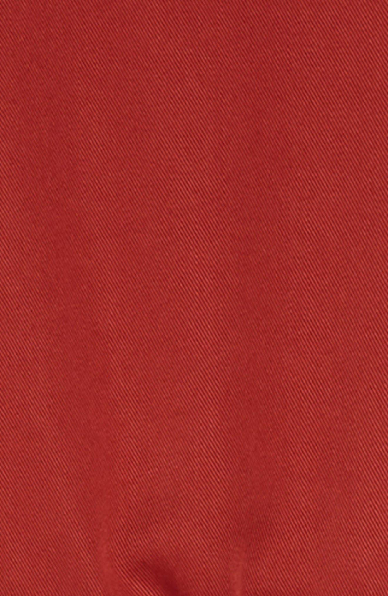 TREASURE & BOND, Sporty Jumpsuit, Alternate thumbnail 3, color, RED OCHRE