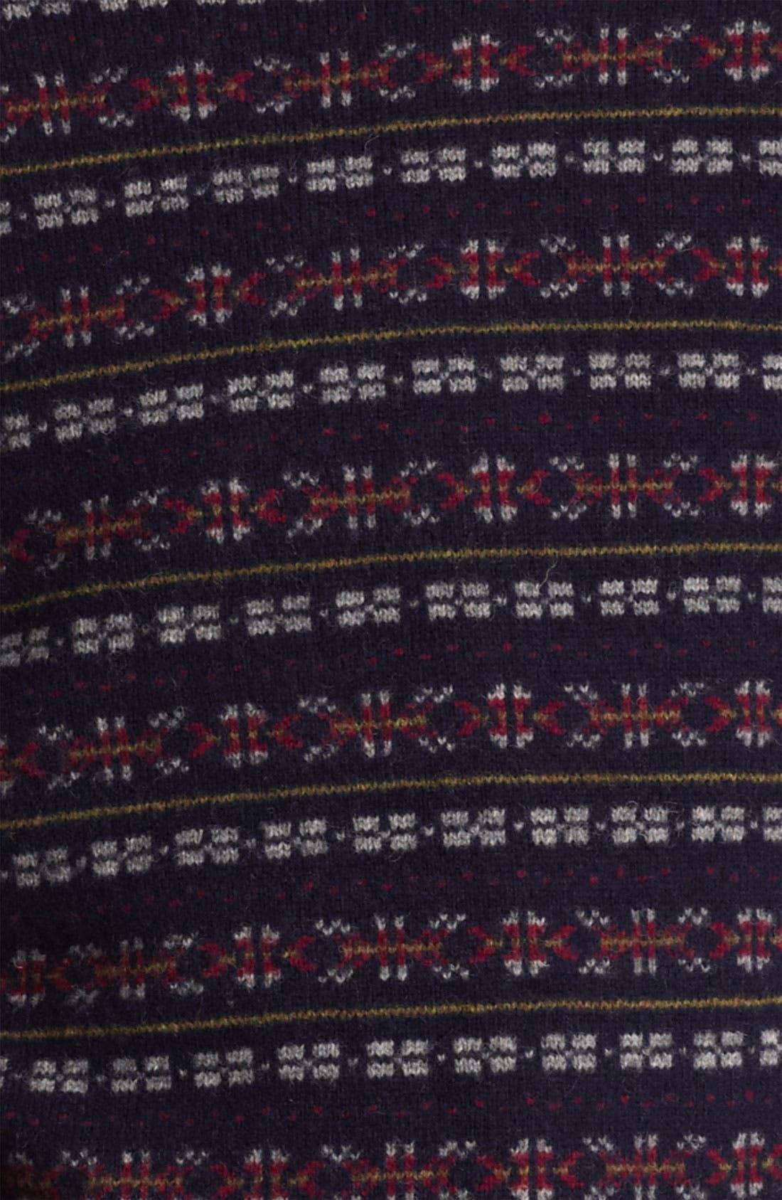 GRAYERS, Fair Isle Wool Sweater, Alternate thumbnail 3, color, 410