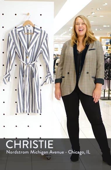 Stripe Cotton & Linen Shirtdress, sales video thumbnail