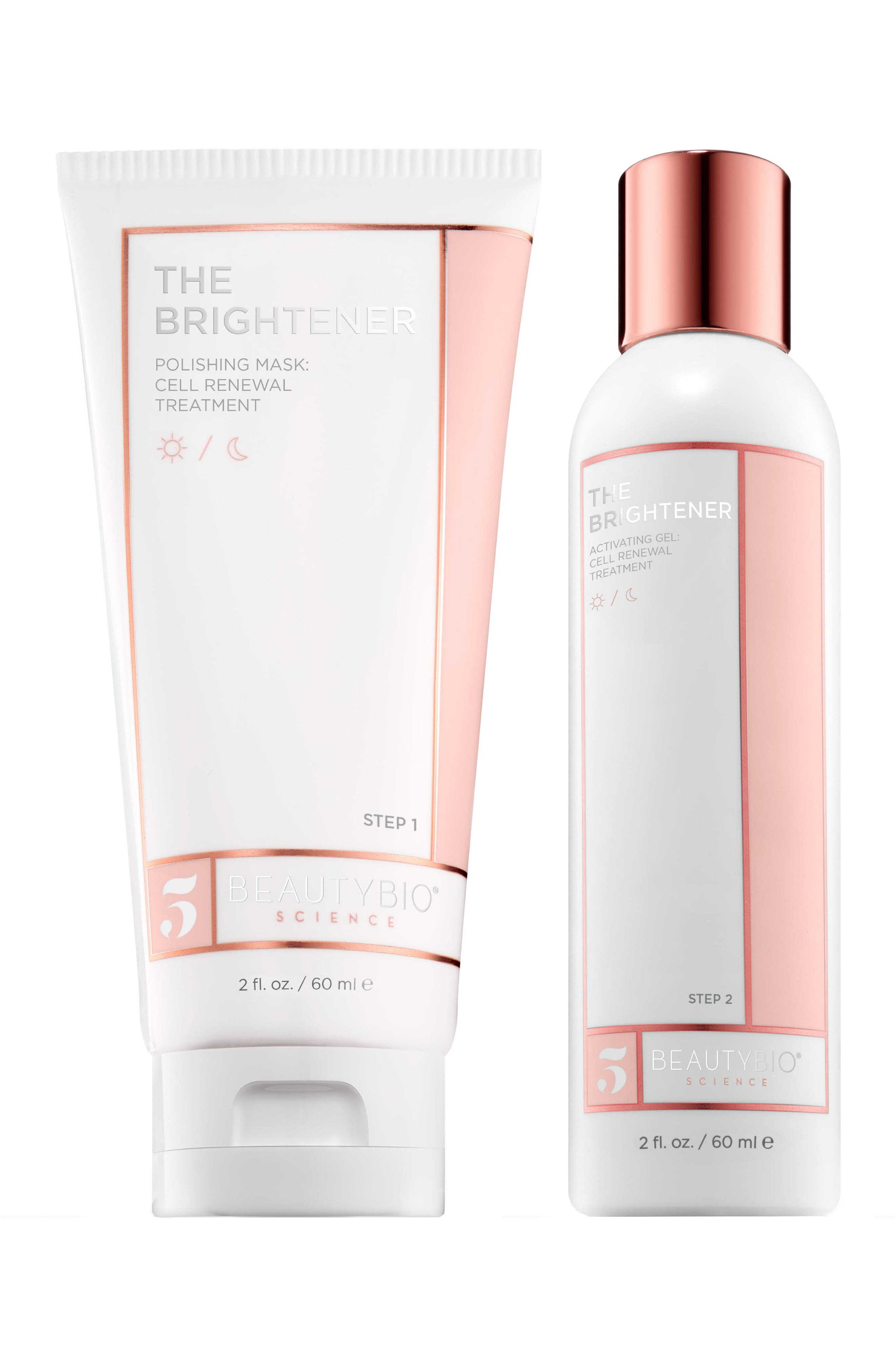 BEAUTYBIO, The Brightener Two-Part Cell Renewal Treatment, Main thumbnail 1, color, NO COLOR