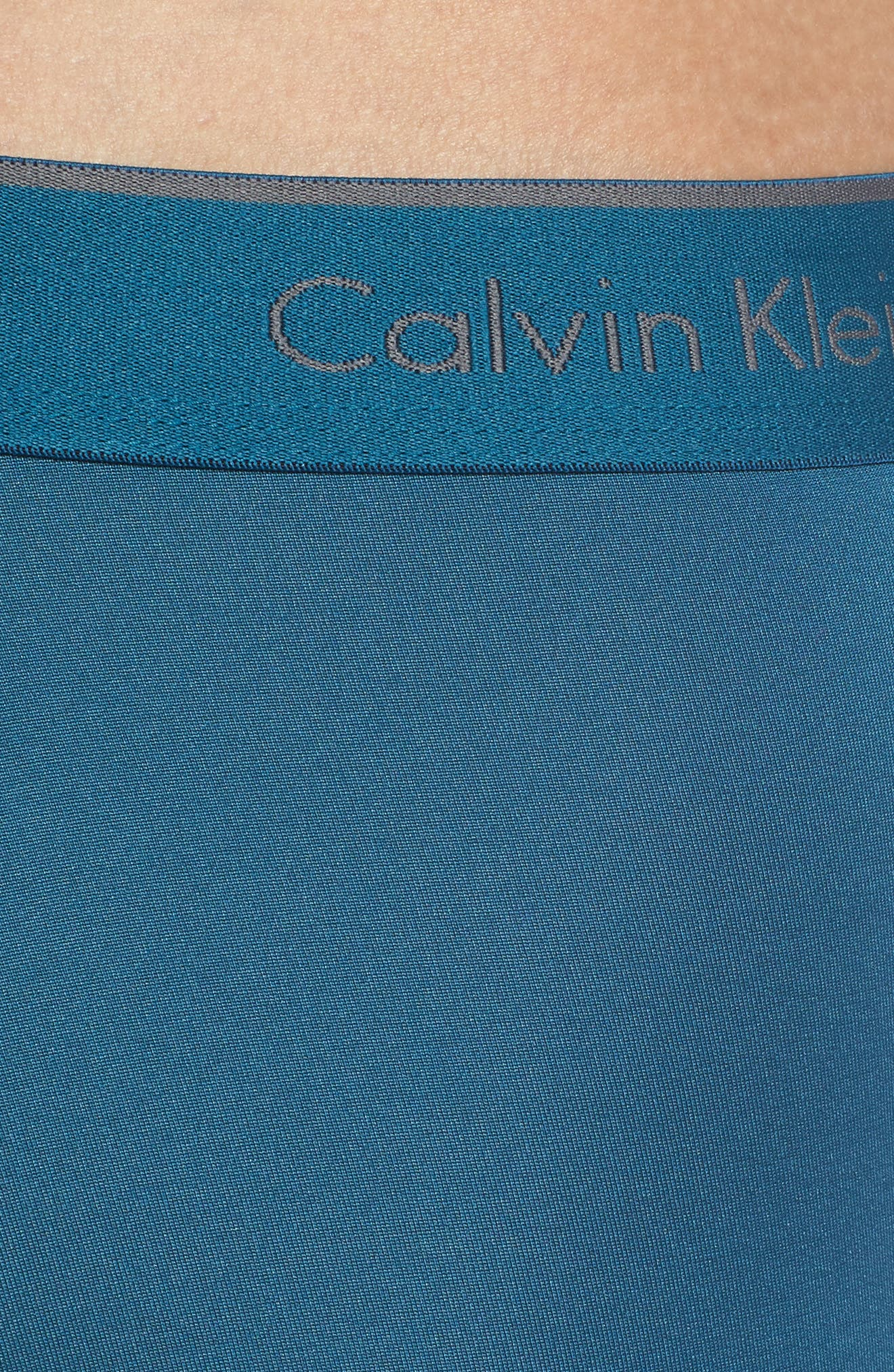CALVIN KLEIN, 3-Pack Micro Stretch Boxer Briefs, Alternate thumbnail 5, color, IRON GATE/ BLUE/ TOURNEY