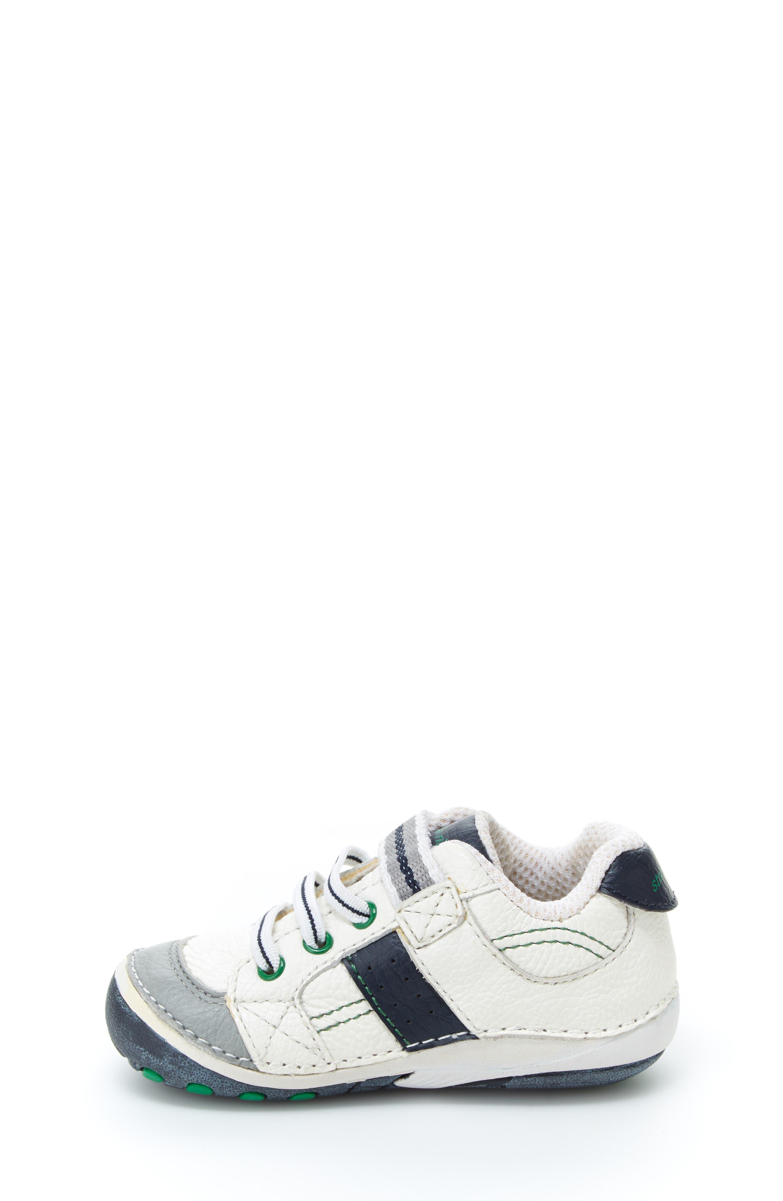 STRIDE RITE, 'Arte' Sneaker, Alternate thumbnail 10, color, WHITE/ NAVY
