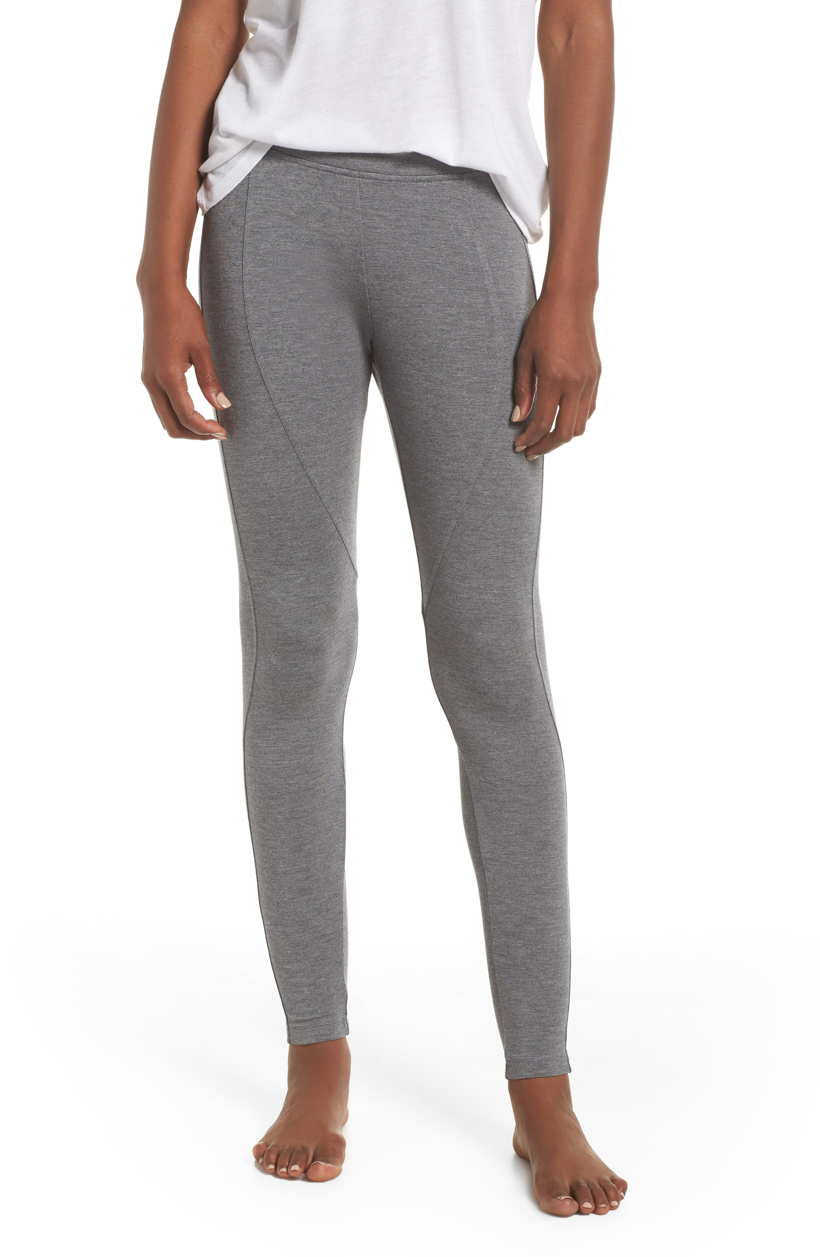 UGG<SUP>®</SUP>, 'Watts' Terry Leggings, Main thumbnail 1, color, CHARCOAL HEATHER