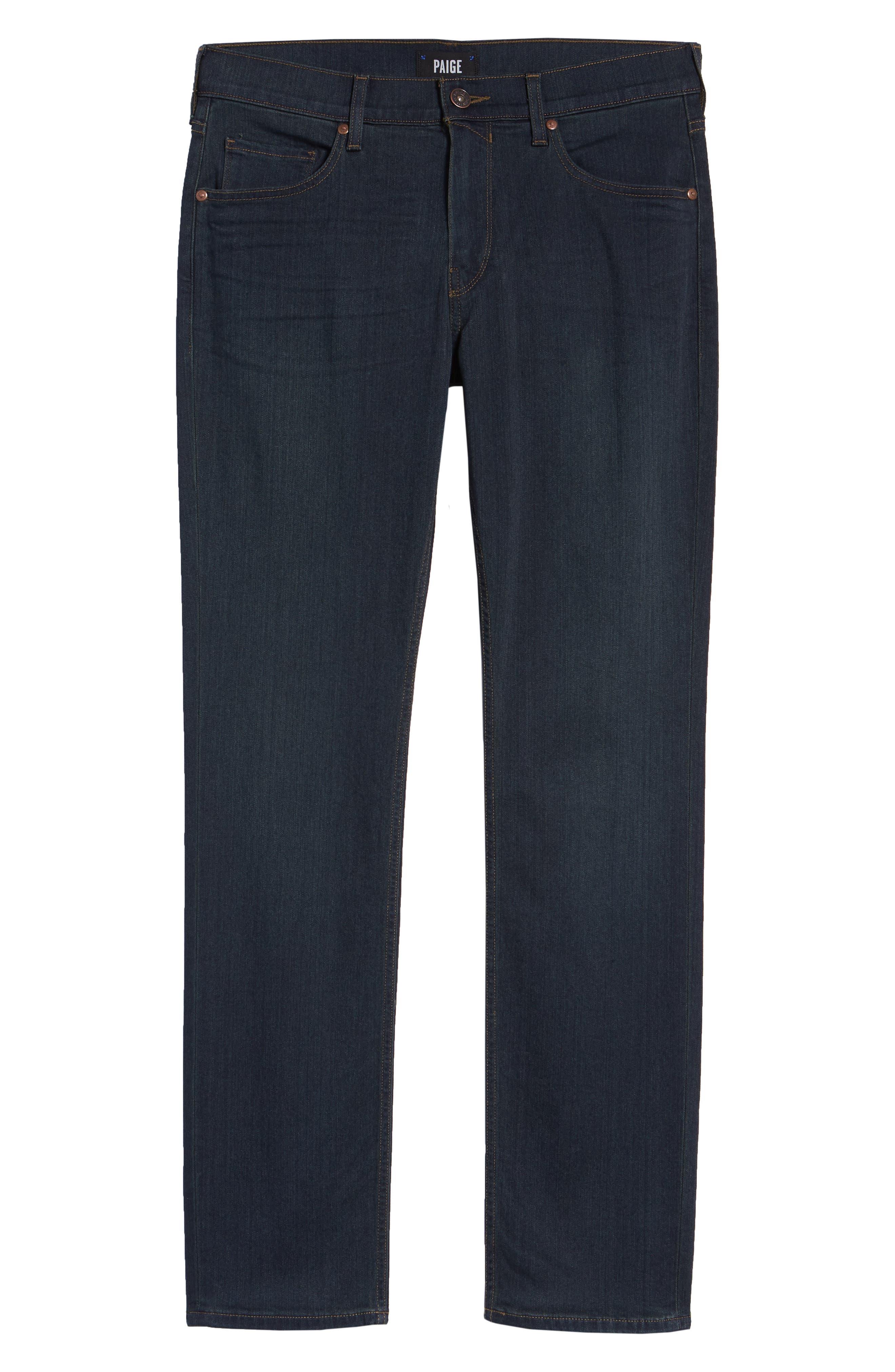 PAIGE, Transcend - Federal Slim Straight Leg Jeans, Alternate thumbnail 2, color, CELLAR/ CELLAR
