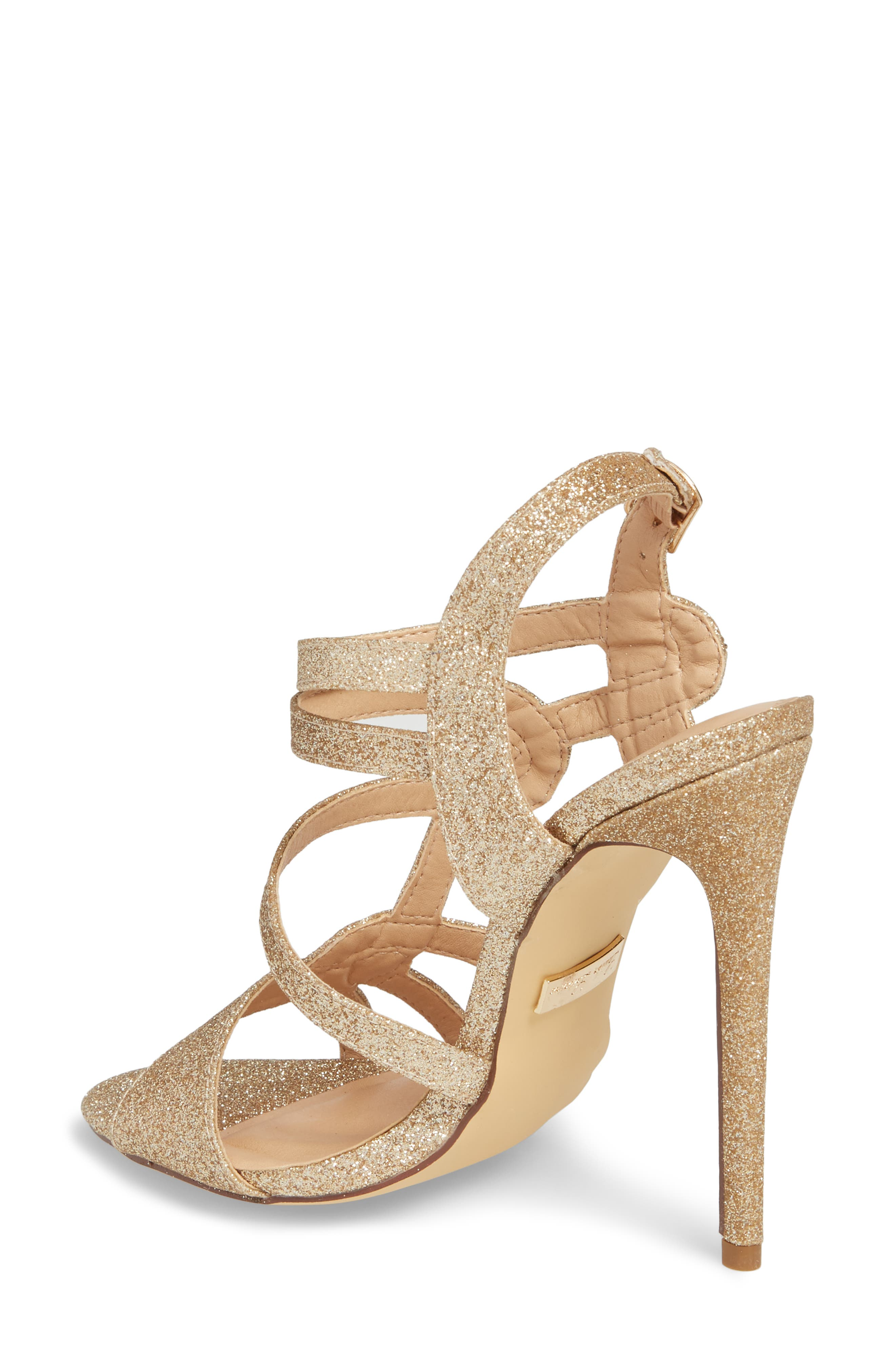 LAUREN LORRAINE, Gidget Sandal, Alternate thumbnail 2, color, NUDE FABRIC