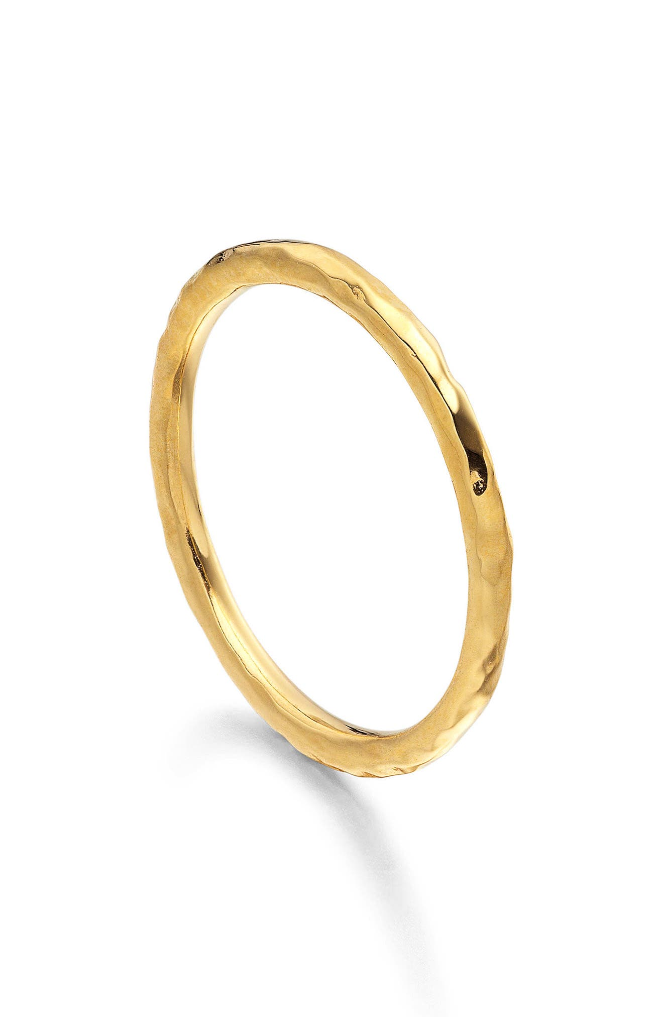 MONICA VINADER, Siren Hammered Ring, Alternate thumbnail 2, color, GOLD
