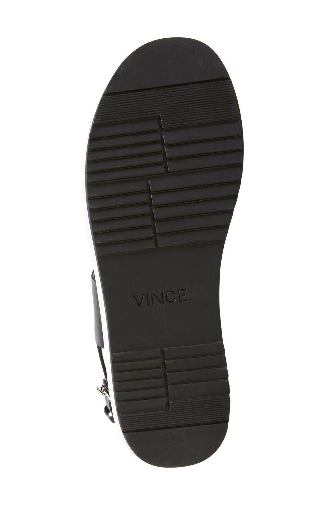 VINCE, 'Mana' Flatform Sandal, Alternate thumbnail 3, color, 001