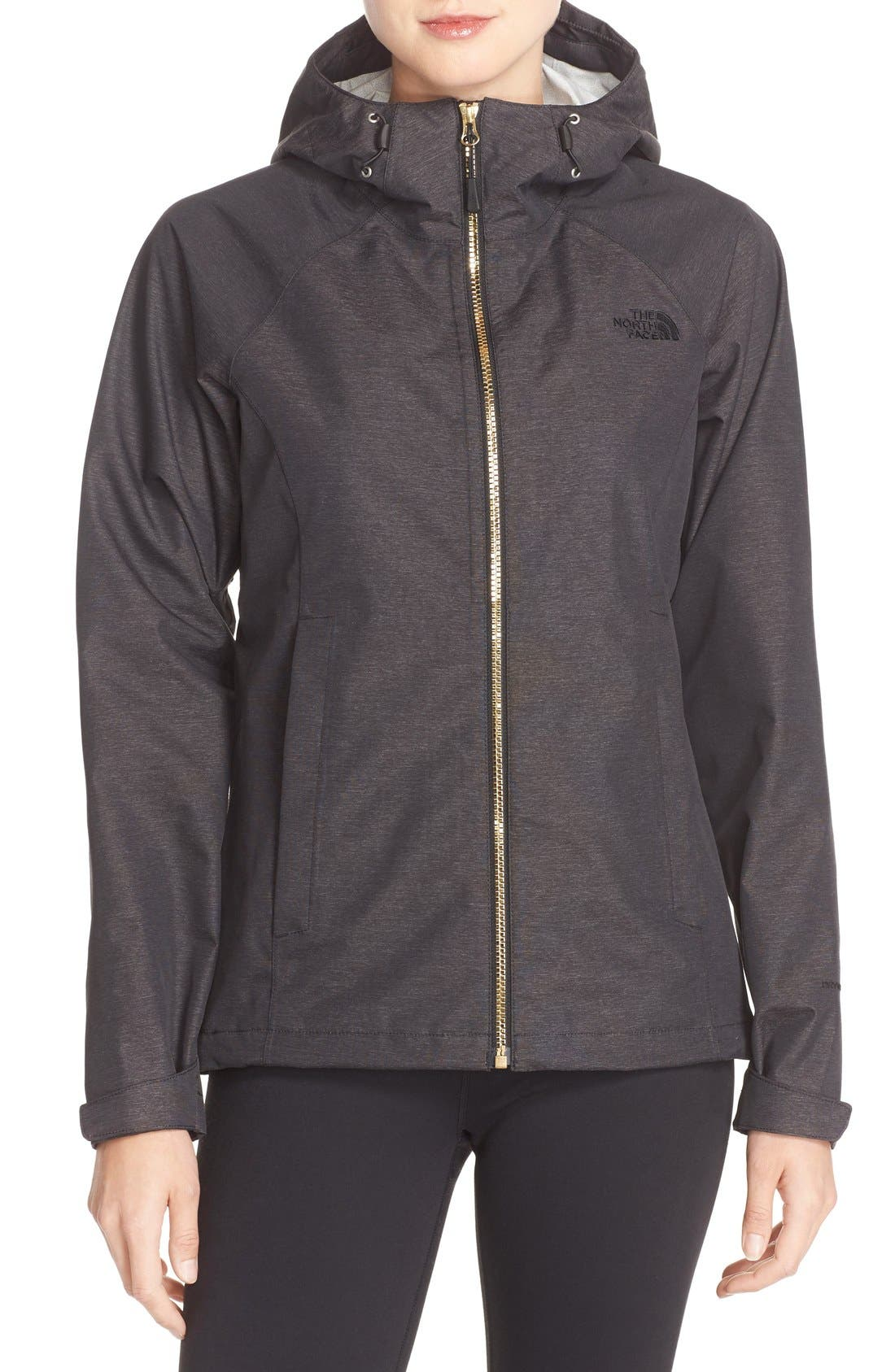 THE NORTH FACE 'Magnolia' Waterproof Rain Jacket, Main, color, 001