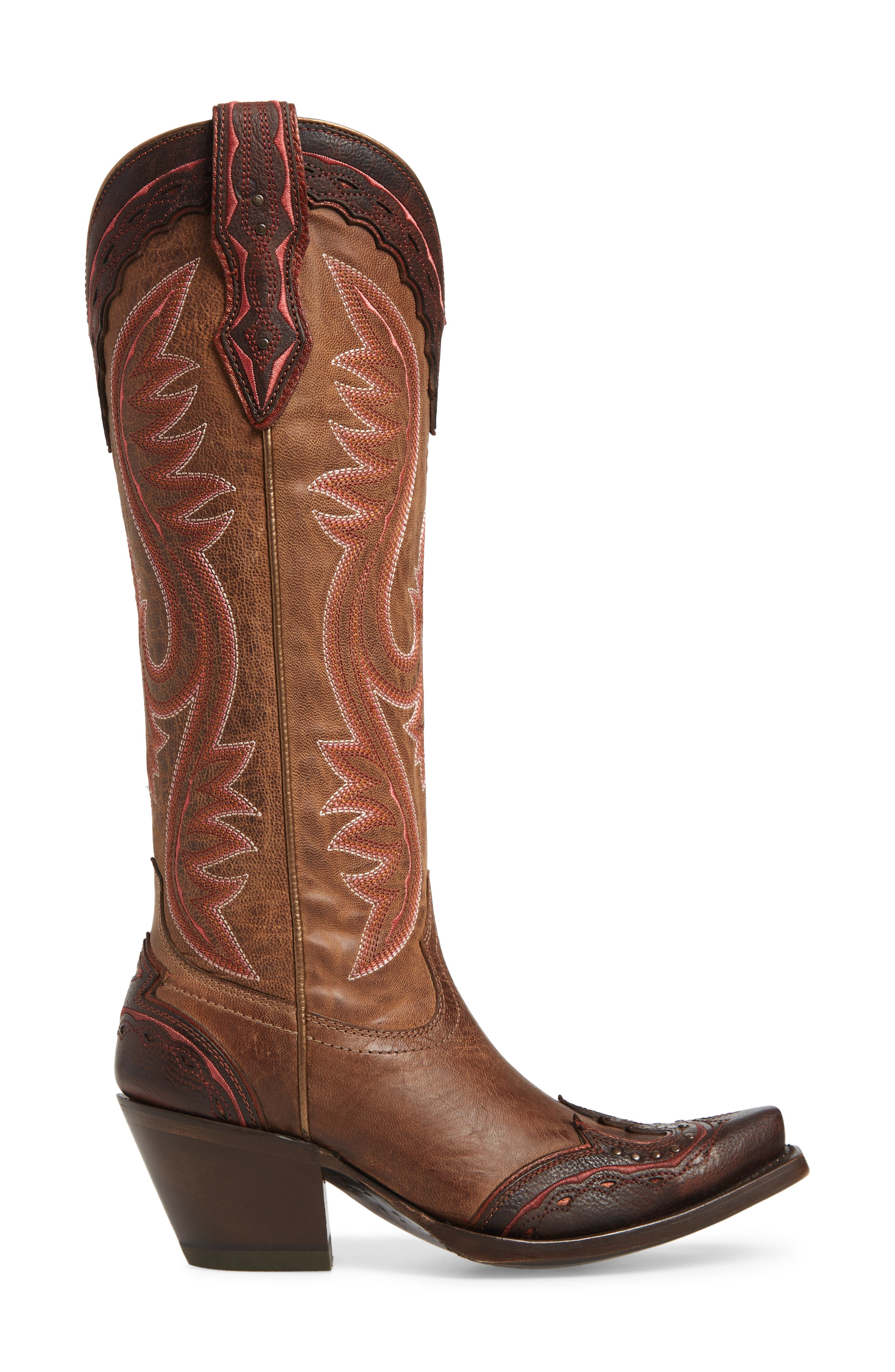 ARIAT, Adelina Western Boot, Alternate thumbnail 3, color, WEATHER TAN LEATHER