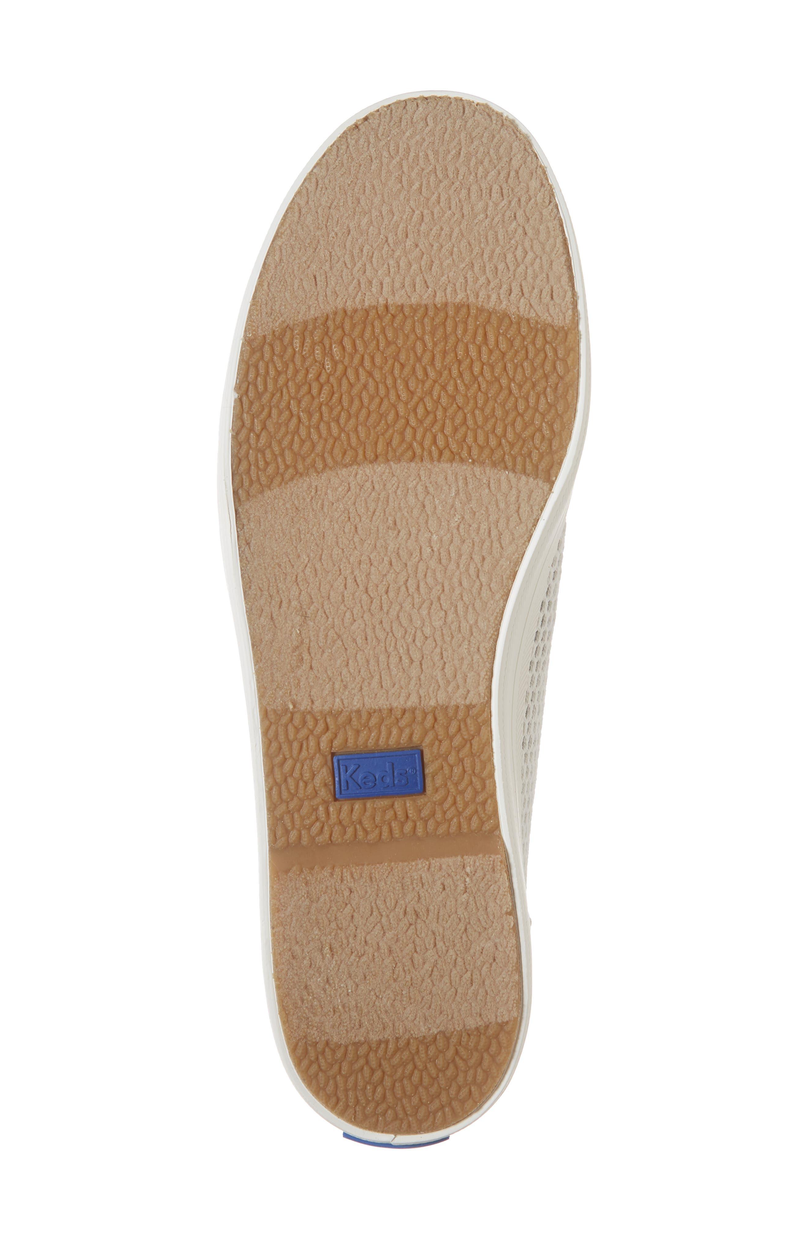 KEDS<SUP>®</SUP>, Kickstart Mesh & Jersey Sneaker, Alternate thumbnail 6, color, LIGHT GRAY