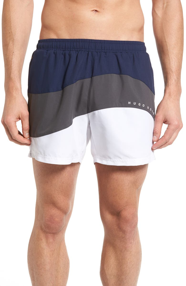7ae9fc6482 BOSS Butterfly Fish Swim Trunks, Main, color, 071