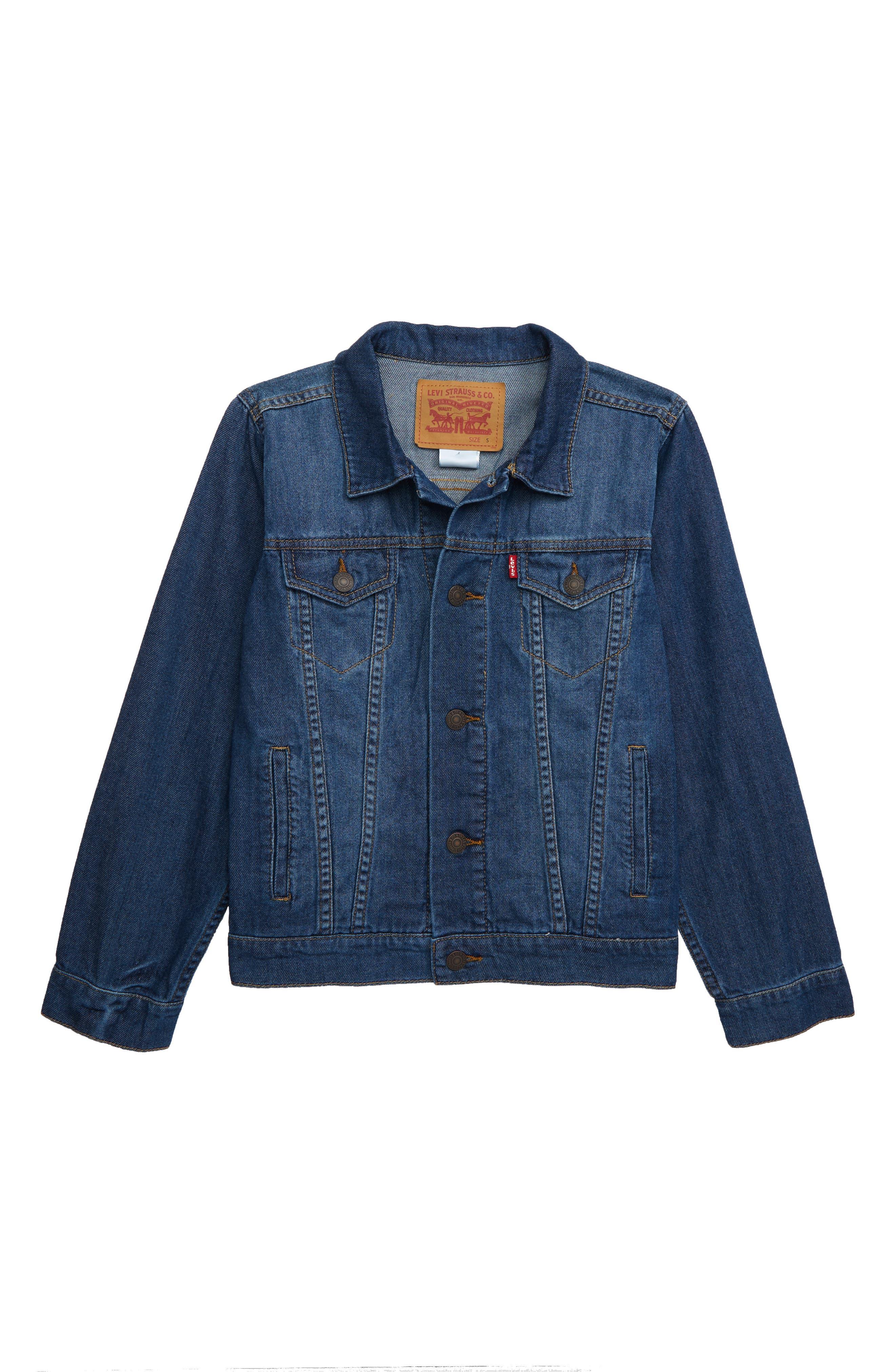Boys LeviS Lightweight Denim Jacket Size 6  Blue