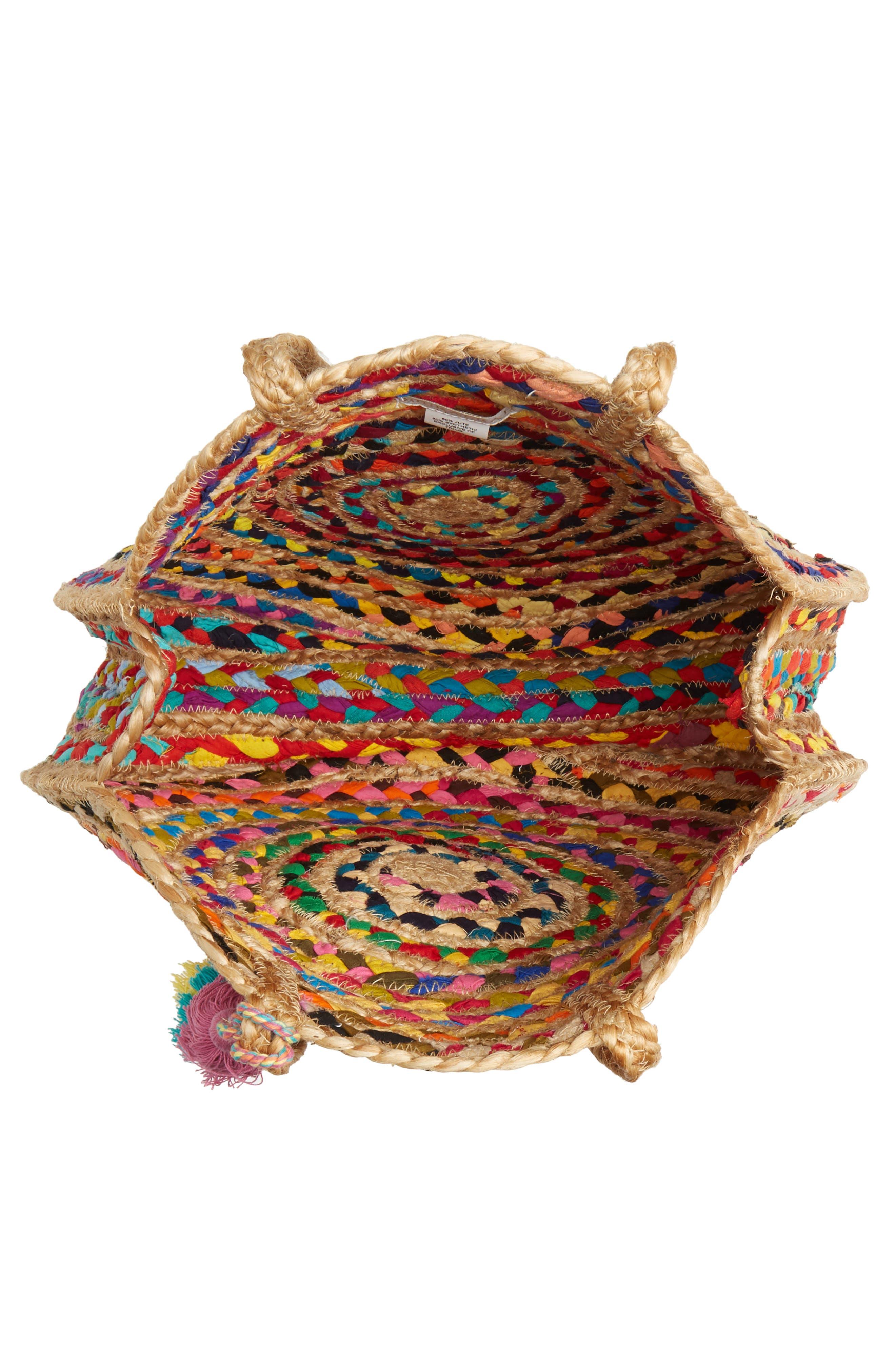 SHIRALEAH, Mirabel Woven Jute Round Tote, Alternate thumbnail 4, color, 250
