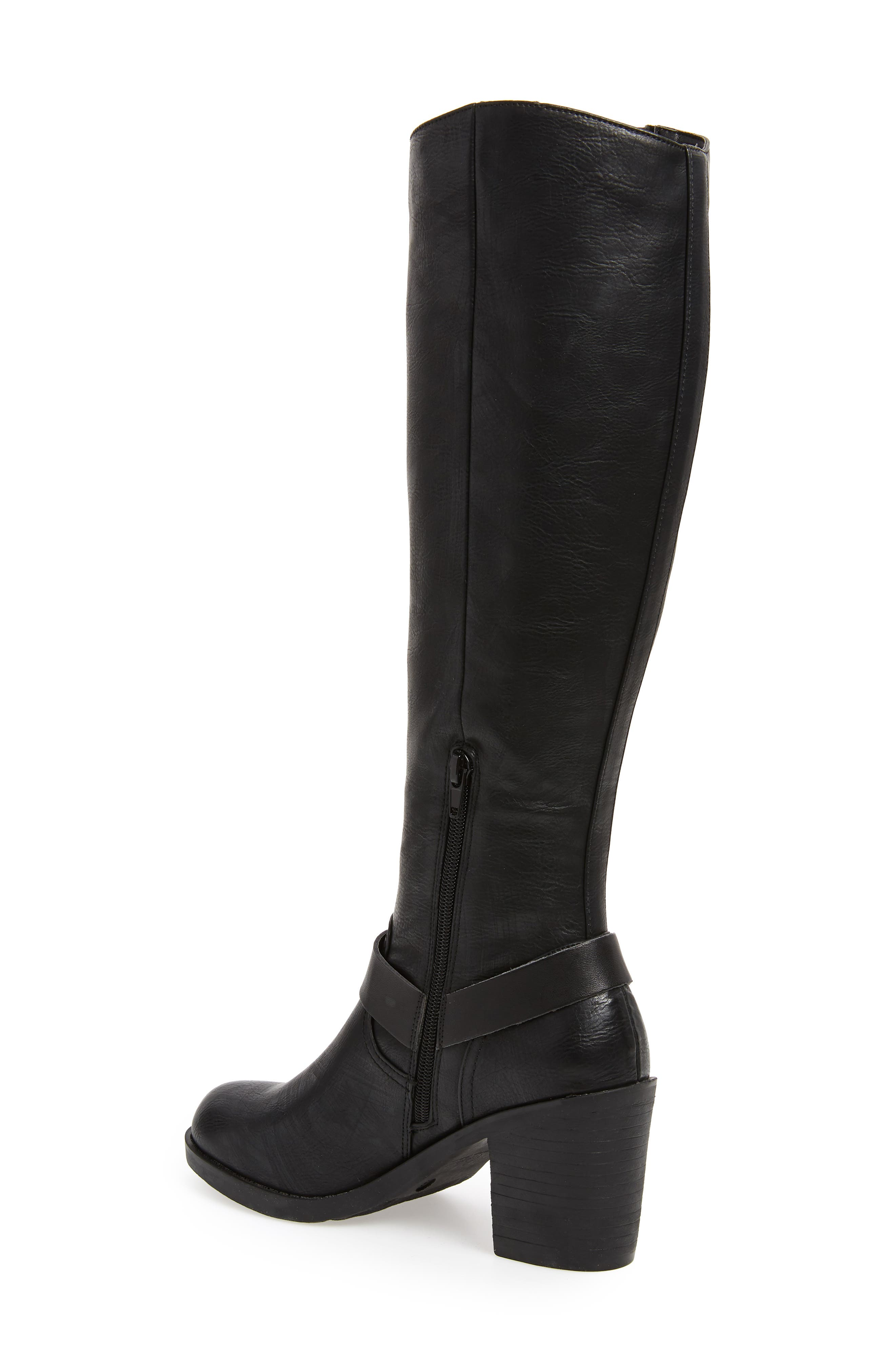 SBICCA, Dimarco Knee High Boot, Alternate thumbnail 2, color, BLACK FAUX LEATHER