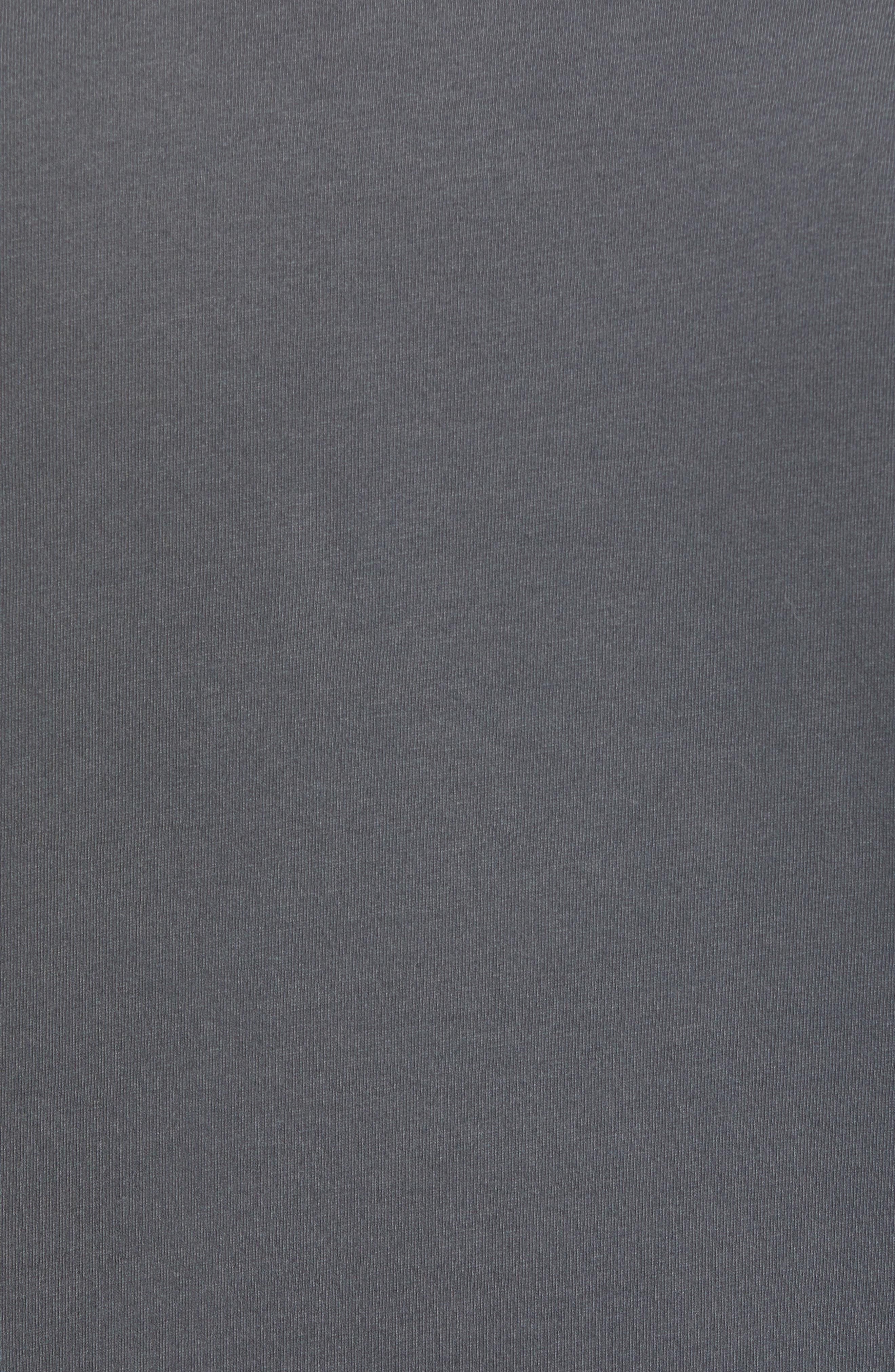 VUORI, The Rise The Shine Graphic T-Shirt, Alternate thumbnail 5, color, CHARCOAL