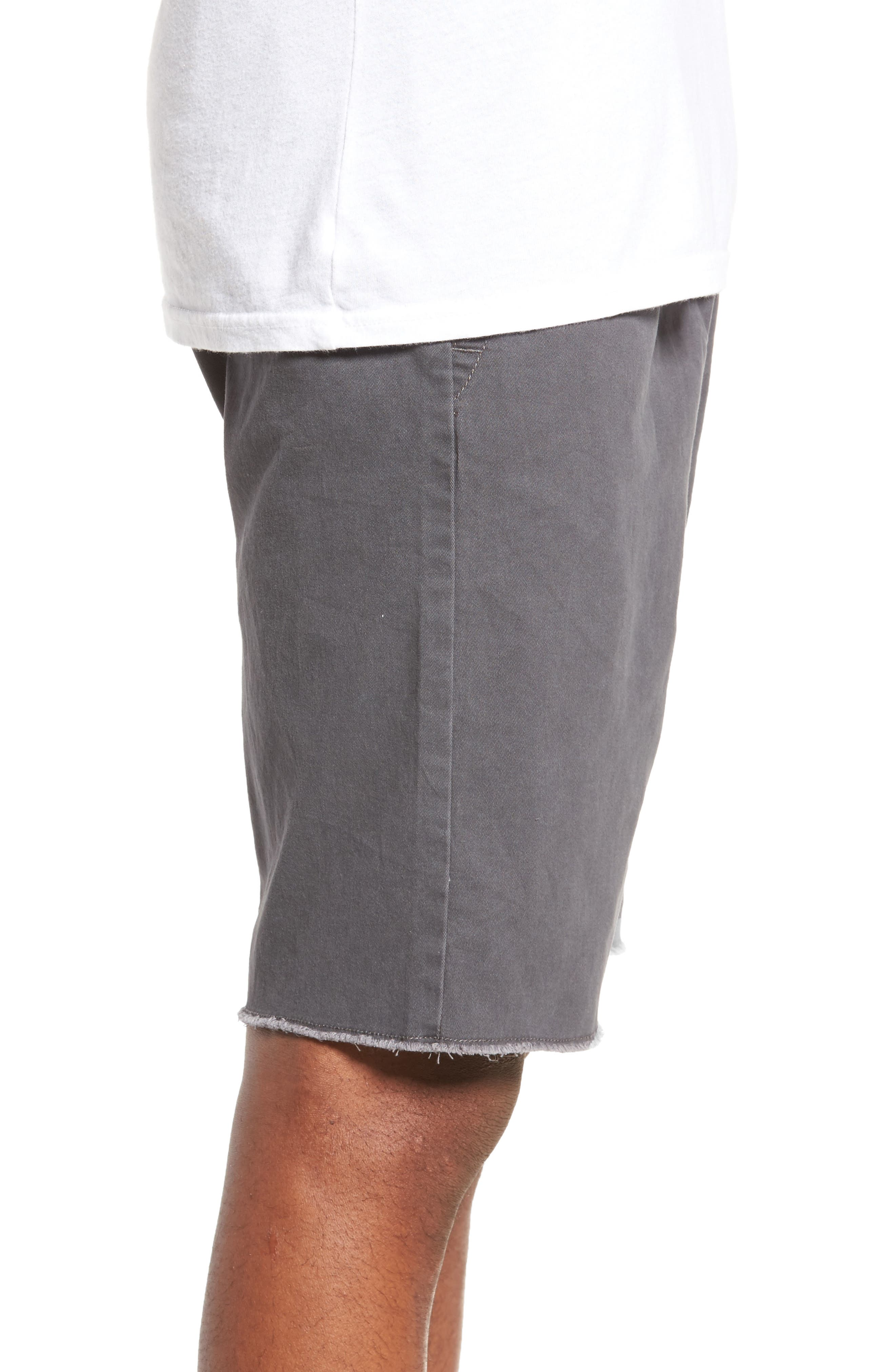 THE RAIL, Jogger Shorts, Alternate thumbnail 3, color, GREY ONYX