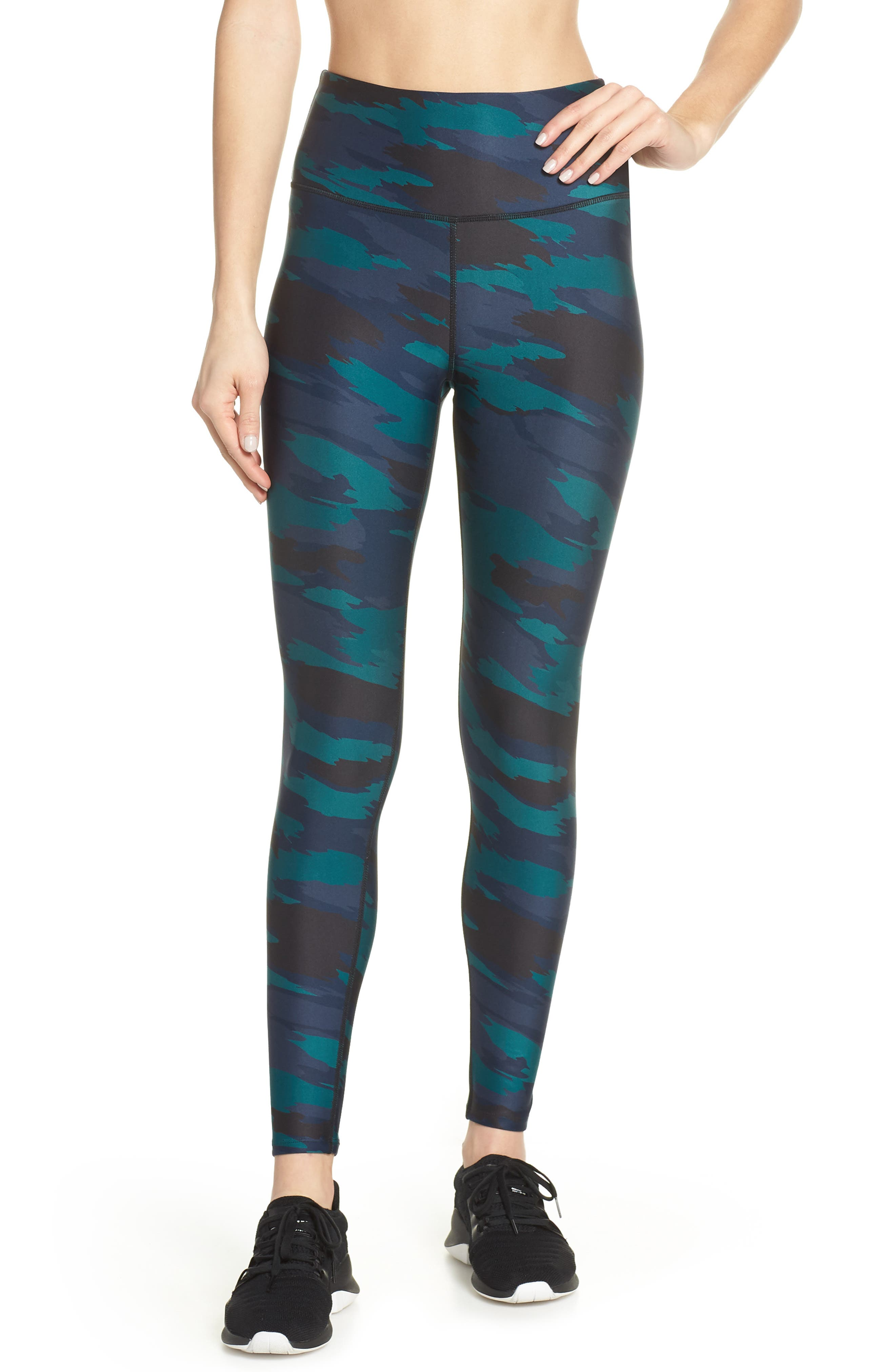 SOUL BY SOULCYCLE, High Waist Camo Tights, Main thumbnail 1, color, CAMO