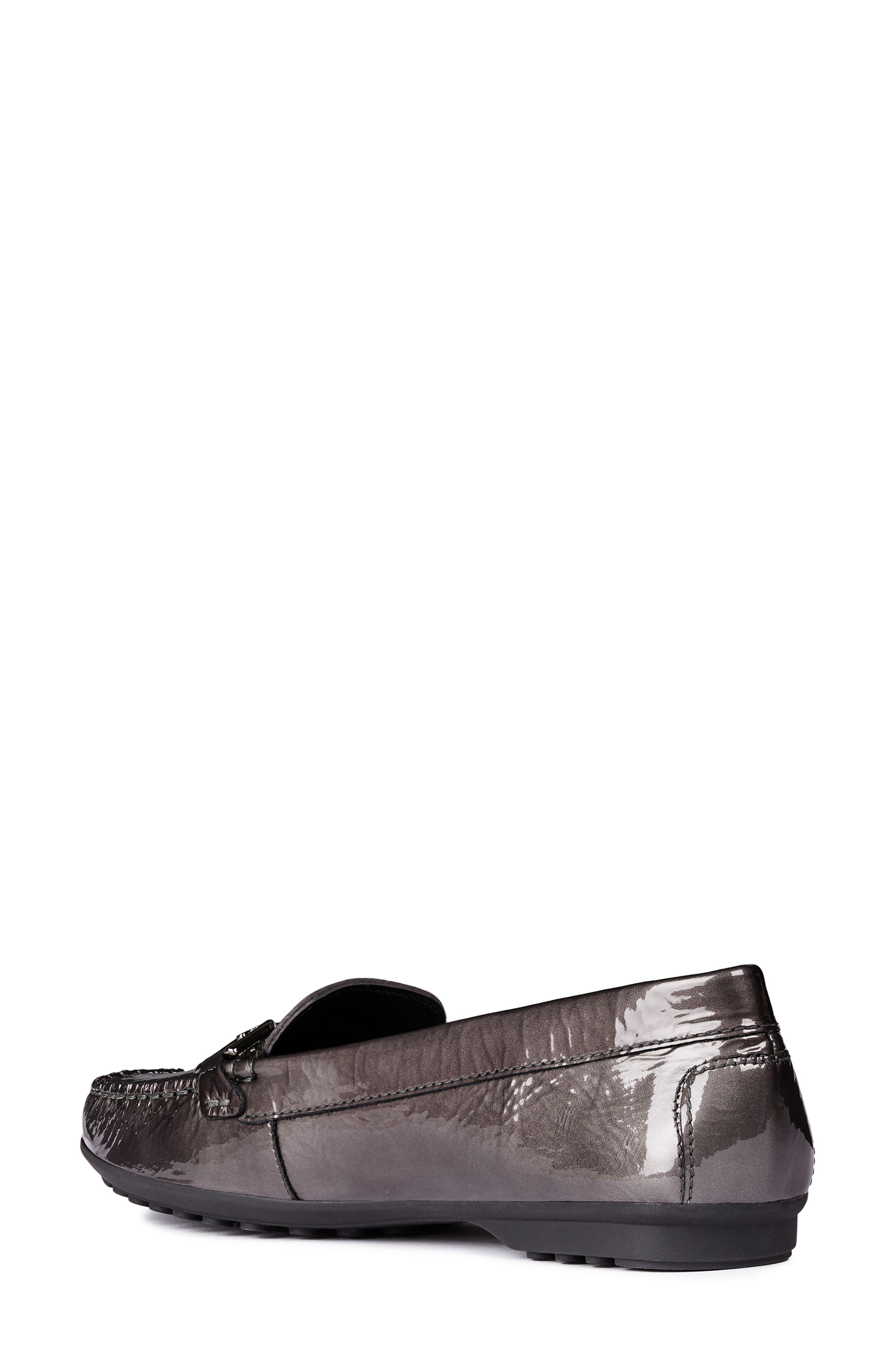 GEOX, Elidia Loafer, Alternate thumbnail 2, color, DARK GREY LEATHER