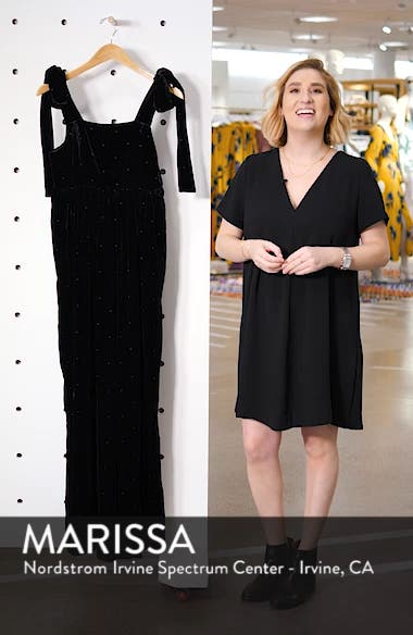 Minnet Dot Velvet Jumpsuit, sales video thumbnail