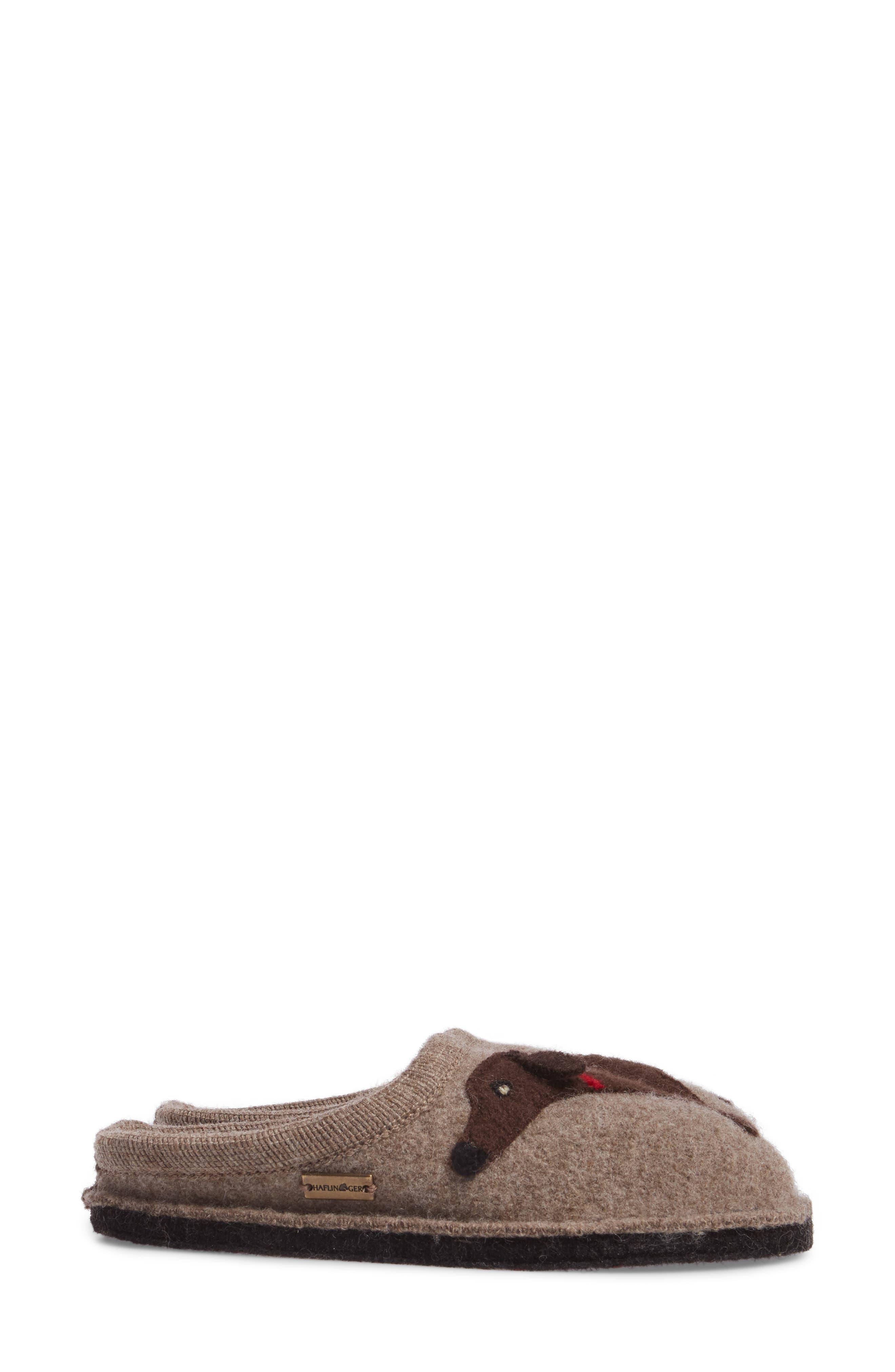HAFLINGER, 'Doggy' Slipper, Alternate thumbnail 5, color, 063