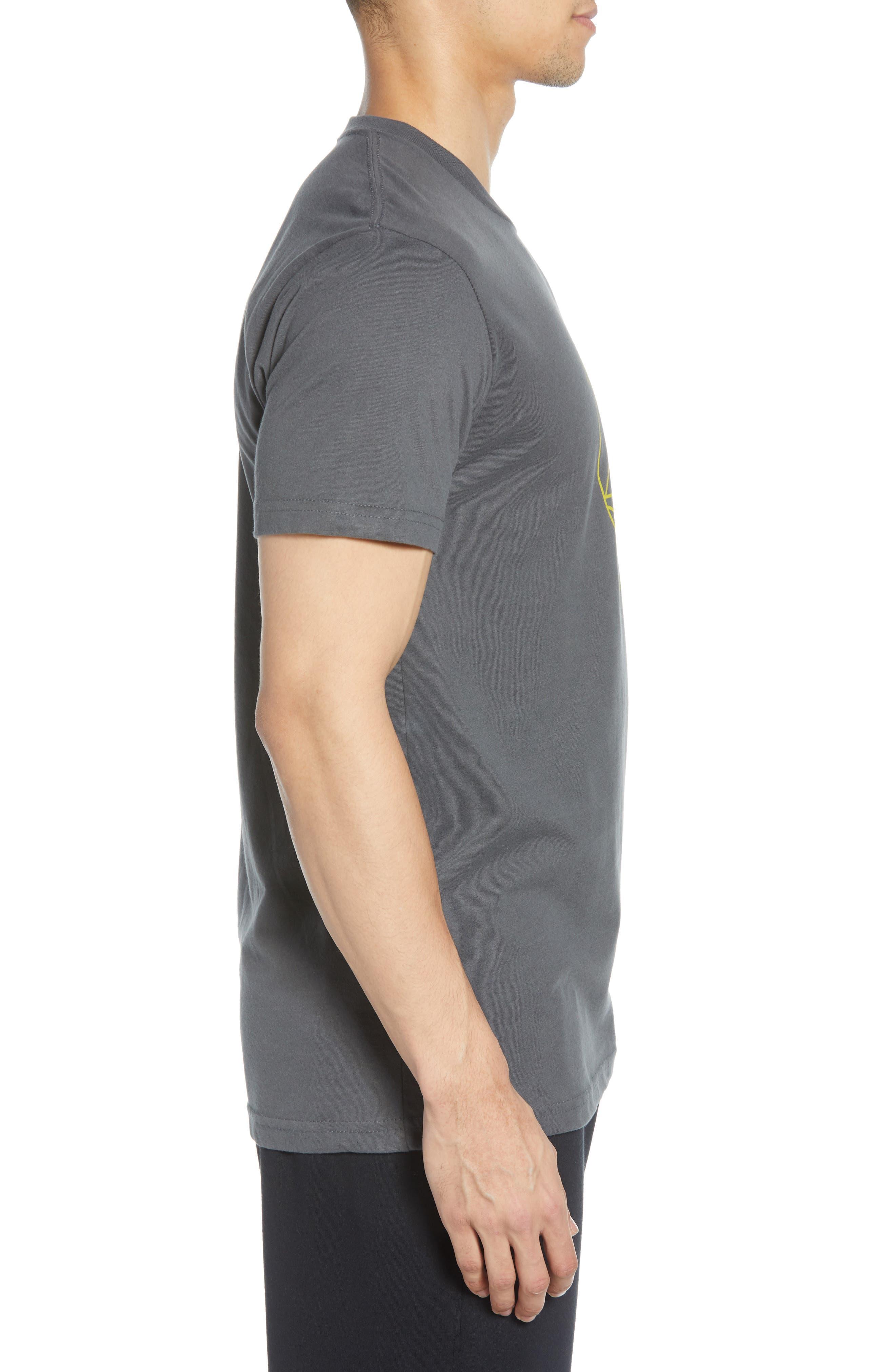 VUORI, The Rise The Shine Graphic T-Shirt, Alternate thumbnail 3, color, CHARCOAL