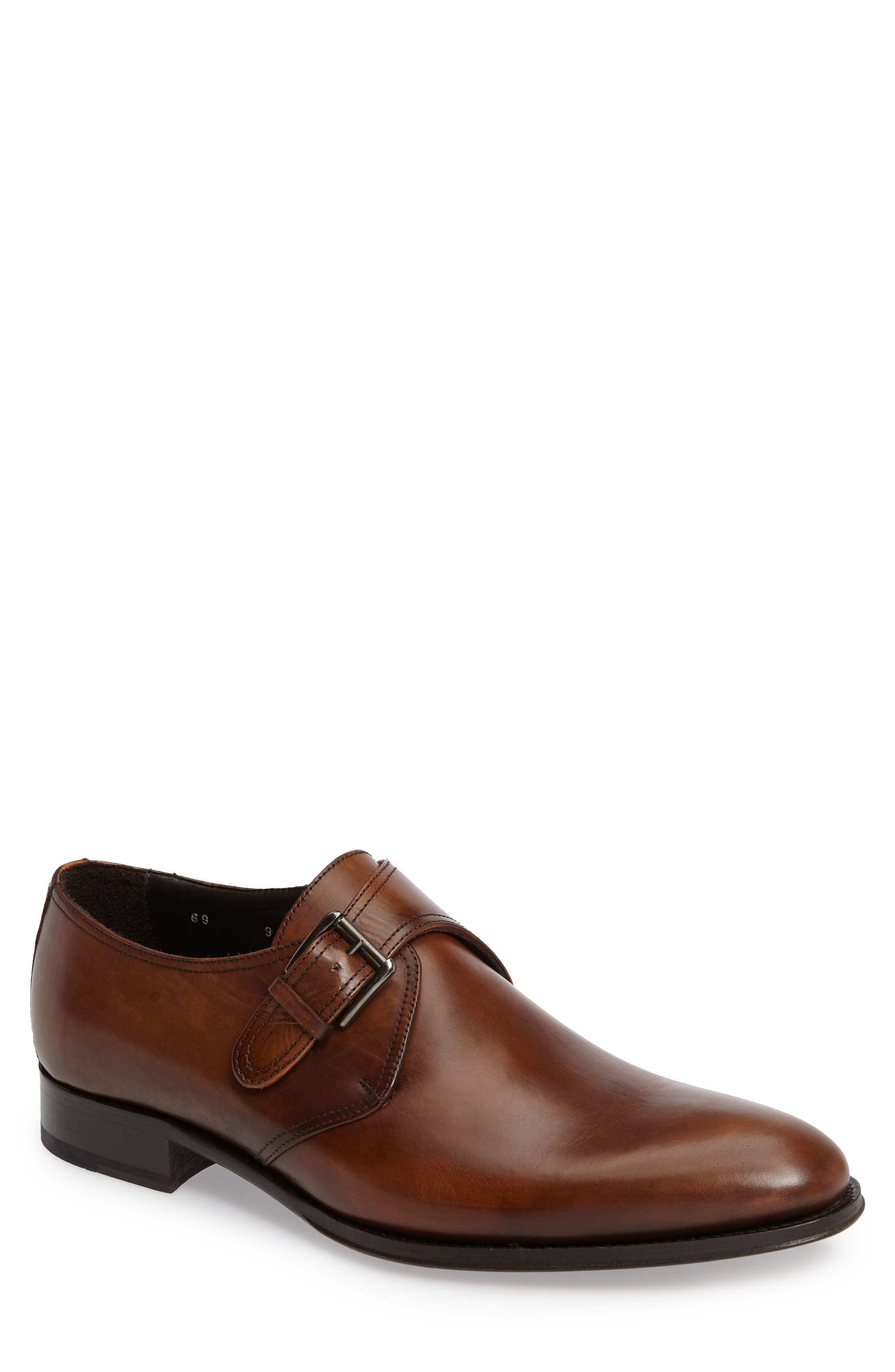 To Boot New York Emmett Monk Strap Shoe- Brown