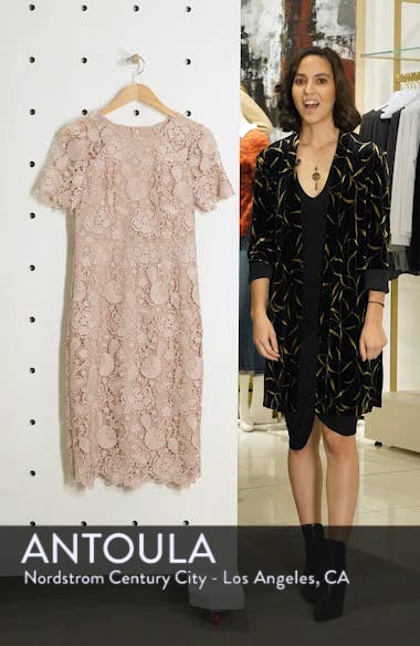 Embroidered Lace Sheath Dress, sales video thumbnail