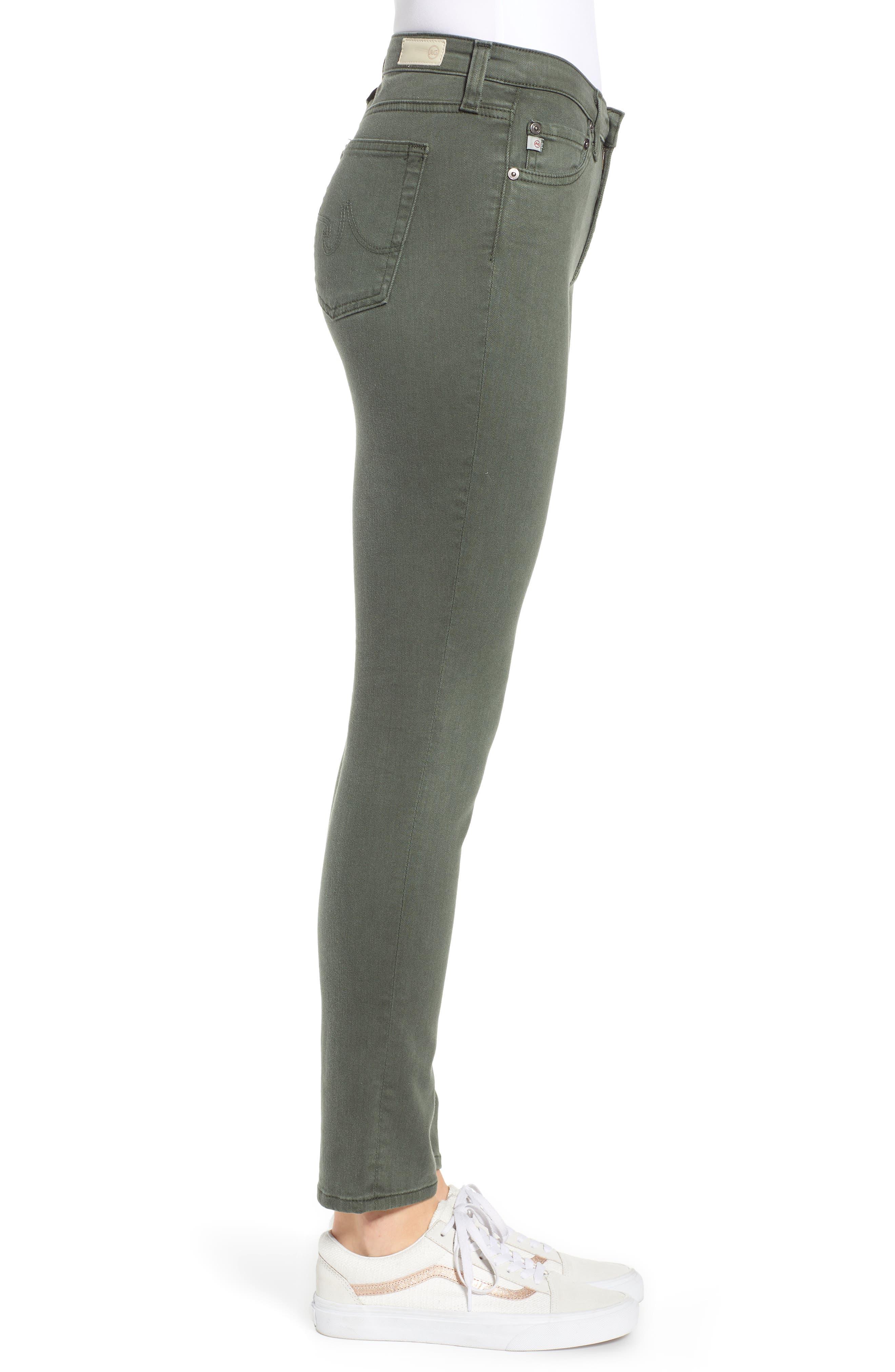 AG, The Prima Ankle Cigarette Jeans, Alternate thumbnail 4, color, 01Y SULFUR ASH GREEN