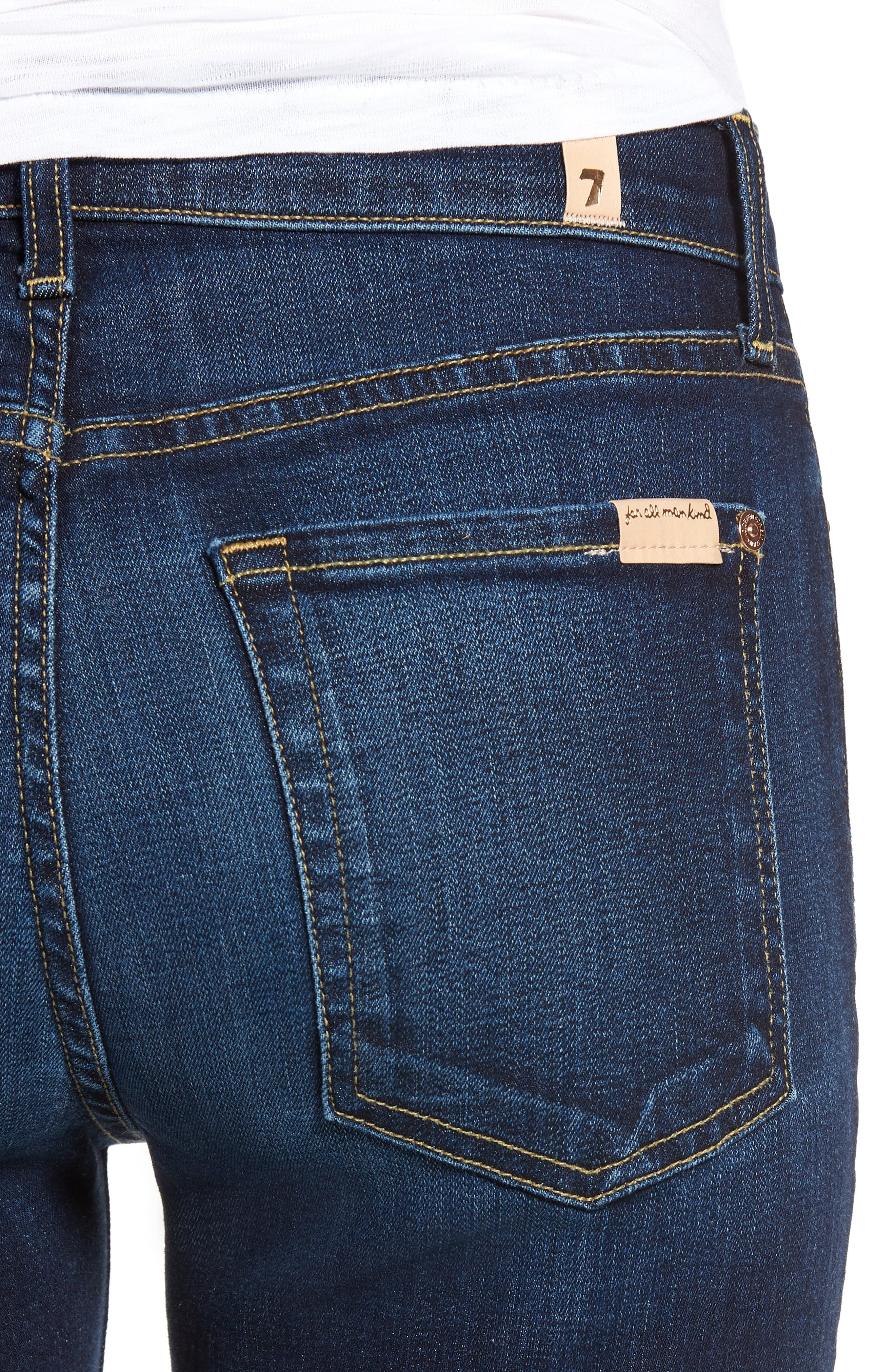 7 FOR ALL MANKIND<SUP>®</SUP>, Ankle Skinny Jeans, Alternate thumbnail 5, color, AUTHENTIC FATE